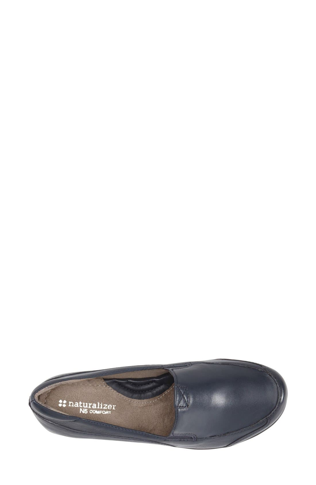 NATURALIZER, 'Channing' Loafer, Alternate thumbnail 3, color, NAVY