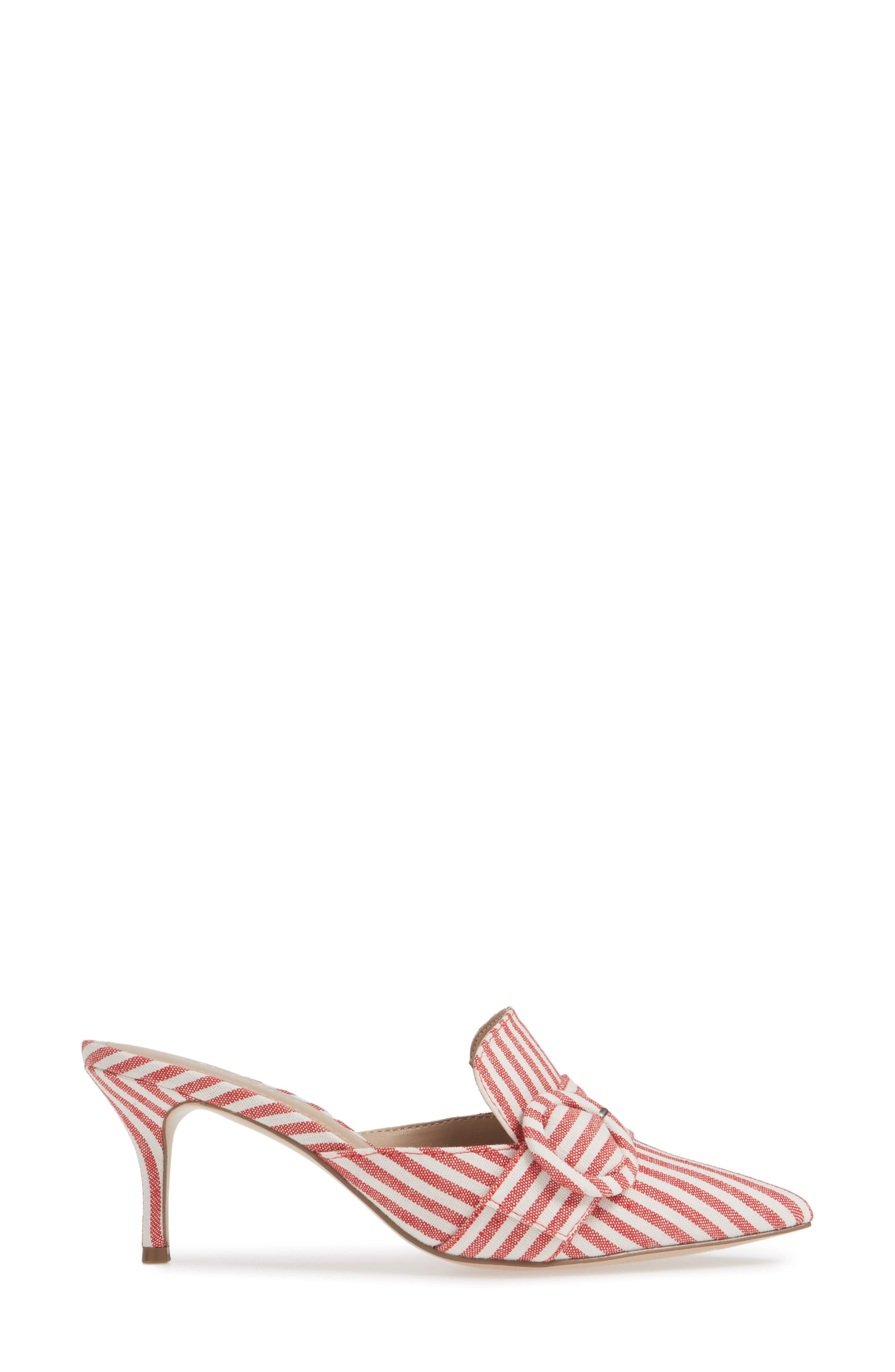 CHARLES BY CHARLES DAVID, Acapulco Mule, Alternate thumbnail 3, color, CANDY RED FABRIC