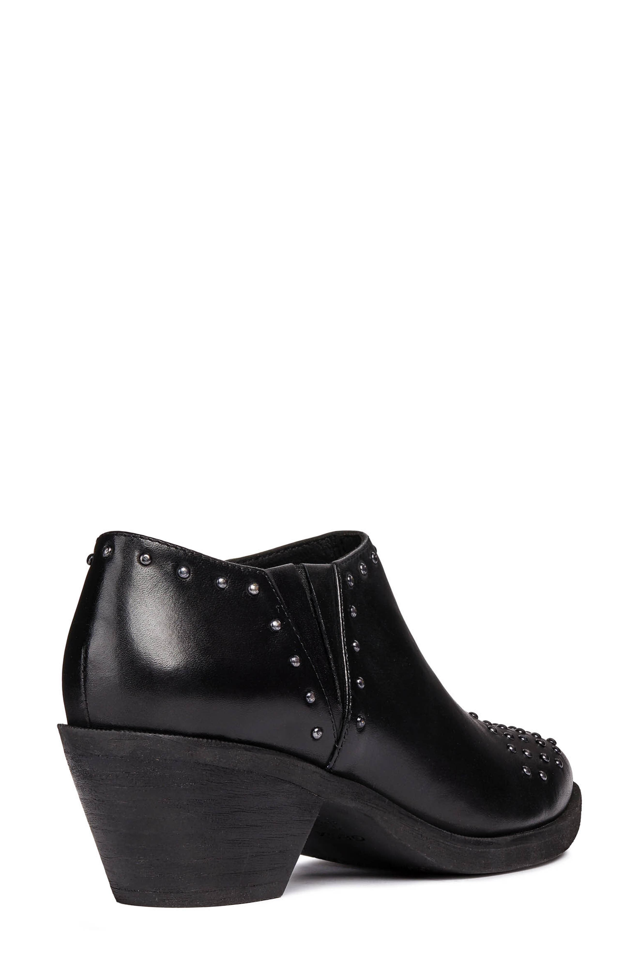 GEOX, Lovai Ankle Boot, Alternate thumbnail 2, color, BLACK LEATHER