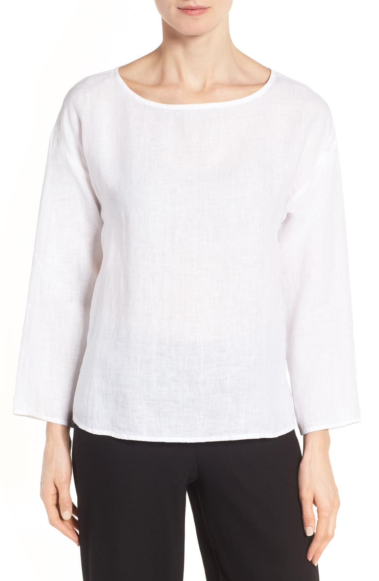 Eileen Fisher Tops ORGANIC HANDKERCHIEF LINEN TOP