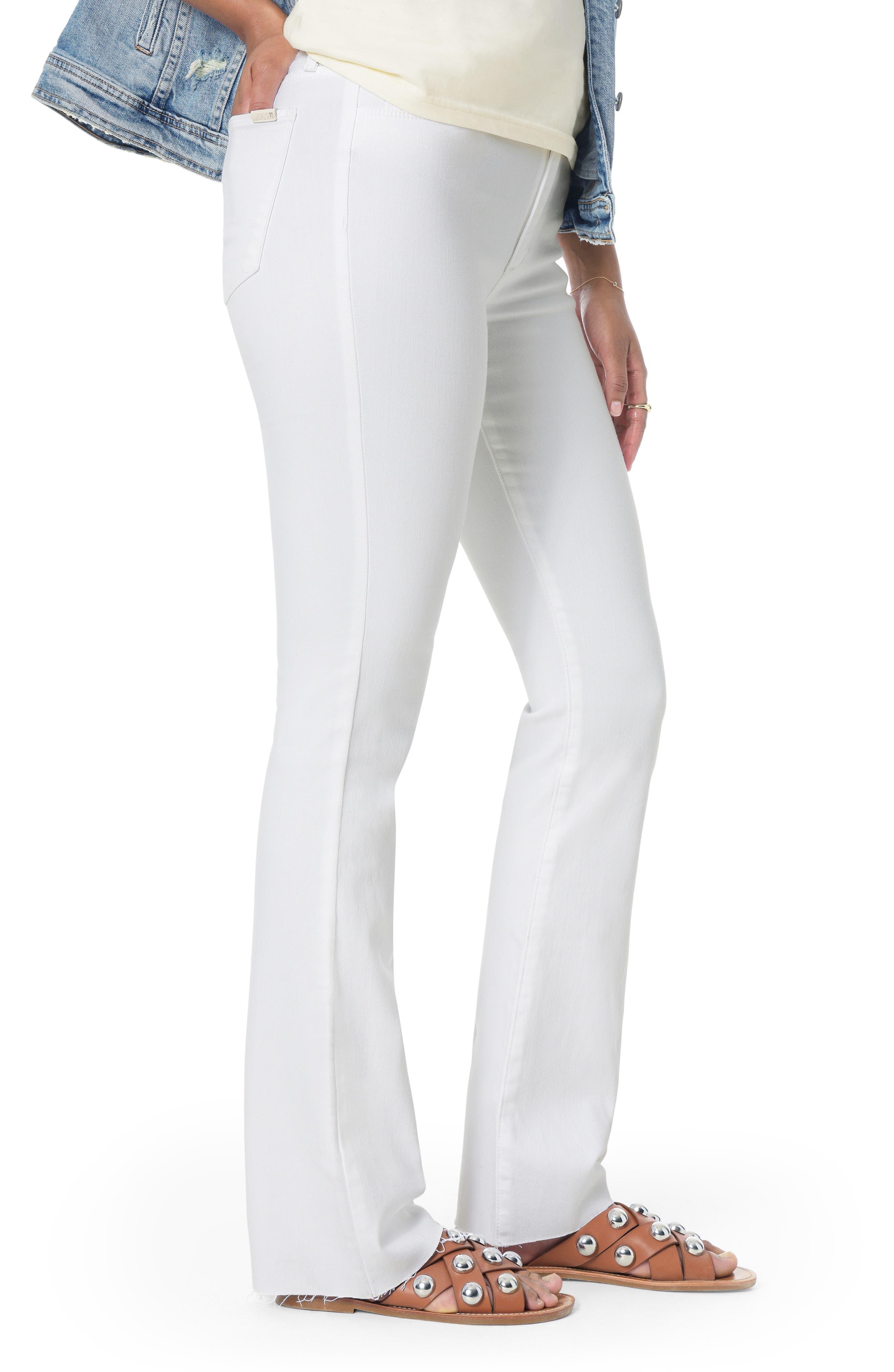 JOE'S, Flawless - Honey High Waist Curvy Bootcut Jeans, Alternate thumbnail 3, color, HENNIE