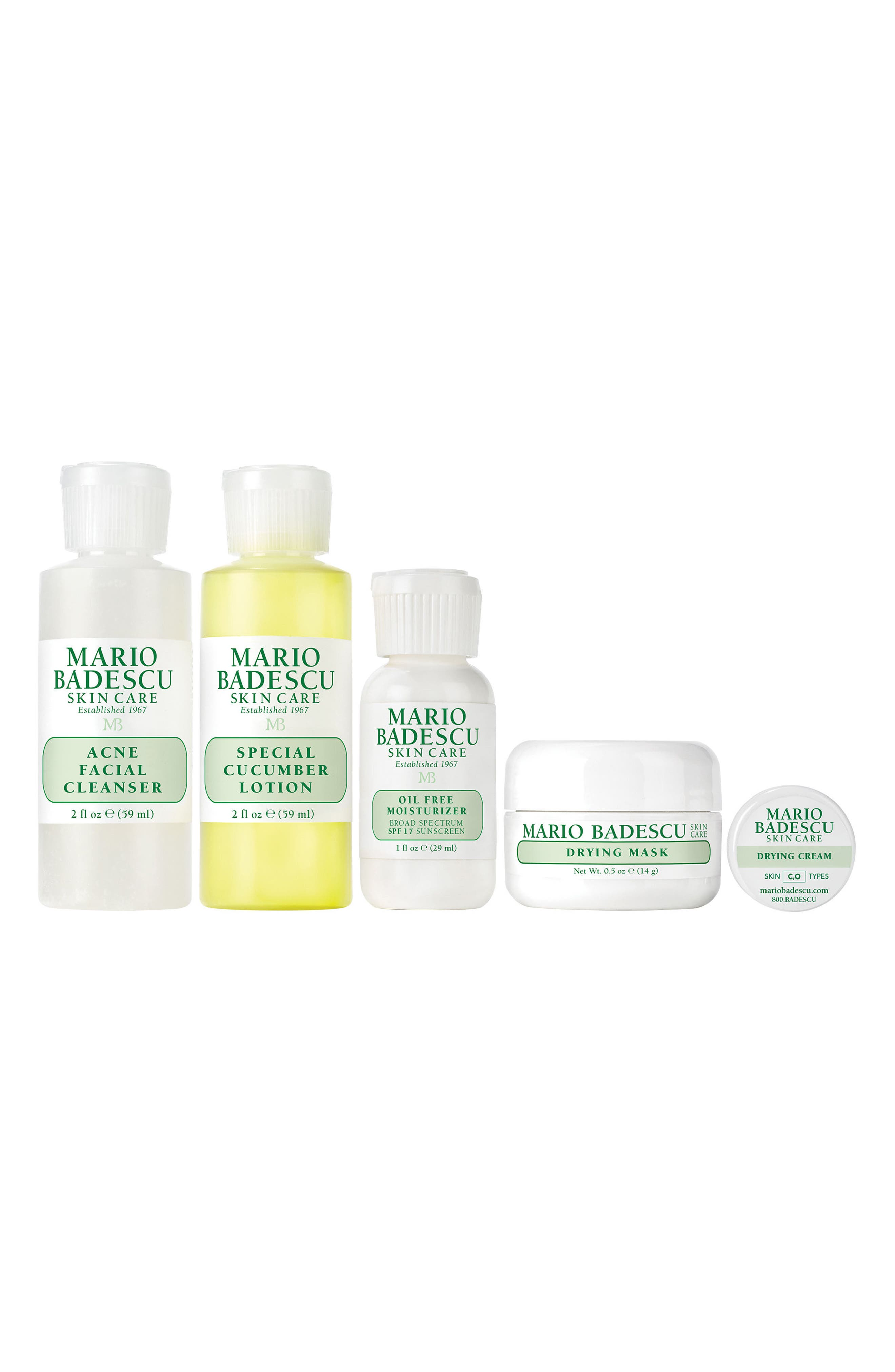 MARIO BADESCU, Acne Starter Regimen Kit, Main thumbnail 1, color, NO COLOR