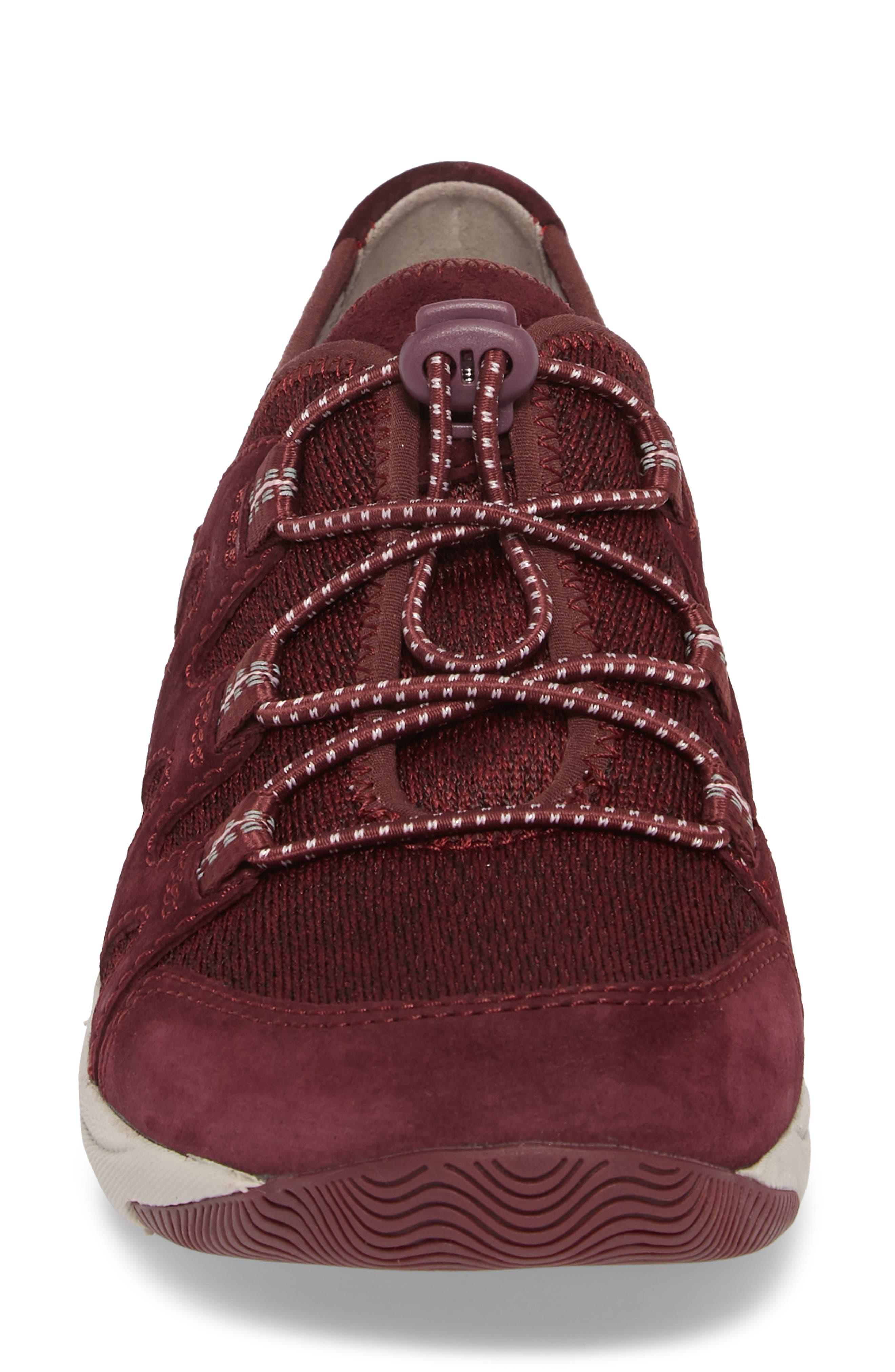 DANSKO, Holland Sneaker, Alternate thumbnail 4, color, WINE SUEDE