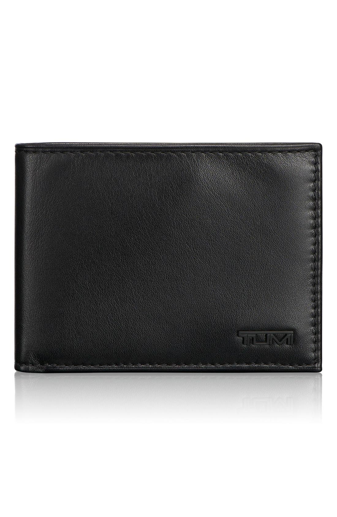 TUMI, Delta Global - ID Lock<sup>™</sup> Shielded Double Billfold Wallet, Main thumbnail 1, color, BLACK