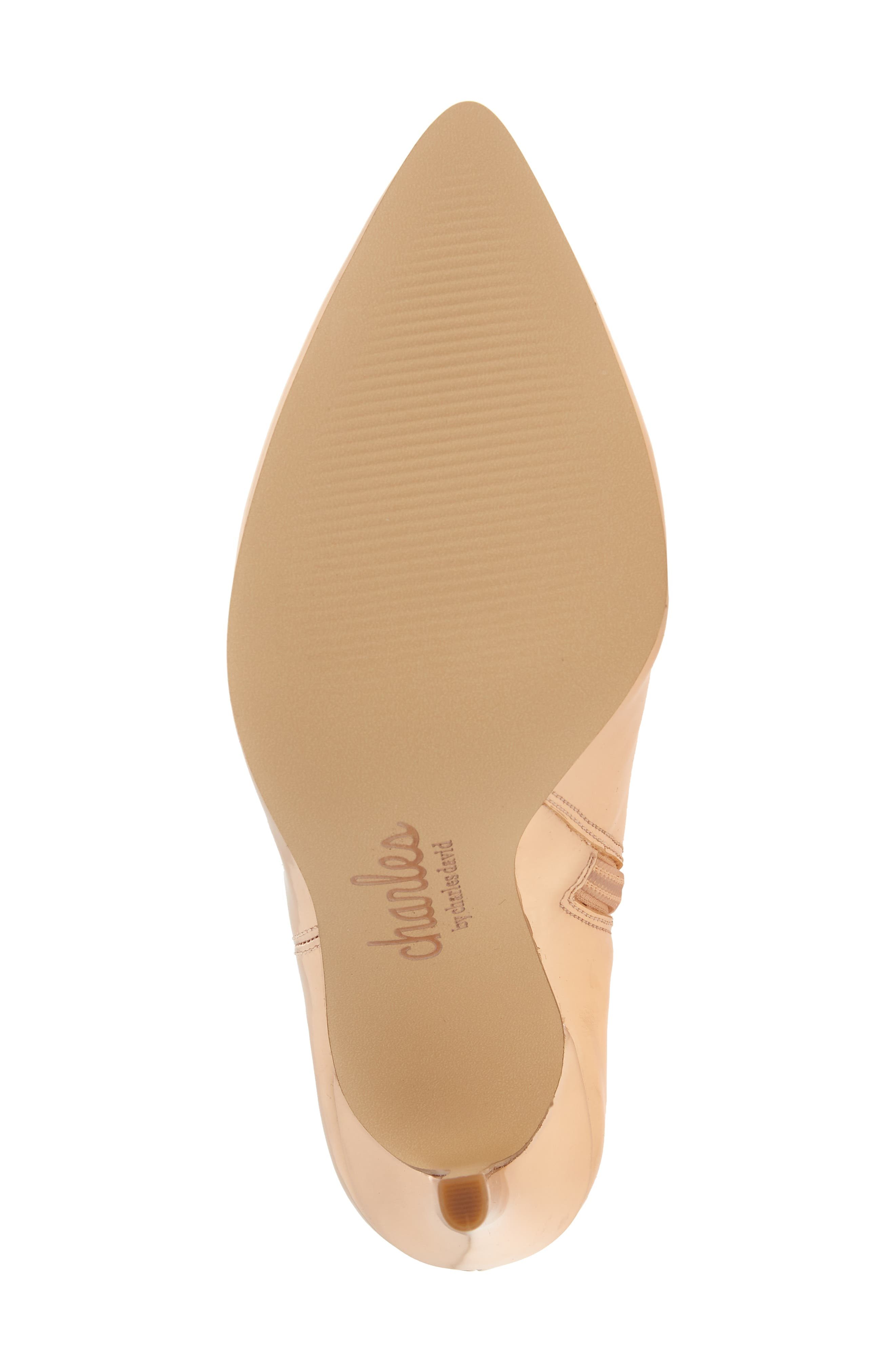 CHARLES BY CHARLES DAVID, Delicious Bootie, Alternate thumbnail 6, color, ROSE GOLD LEATHER