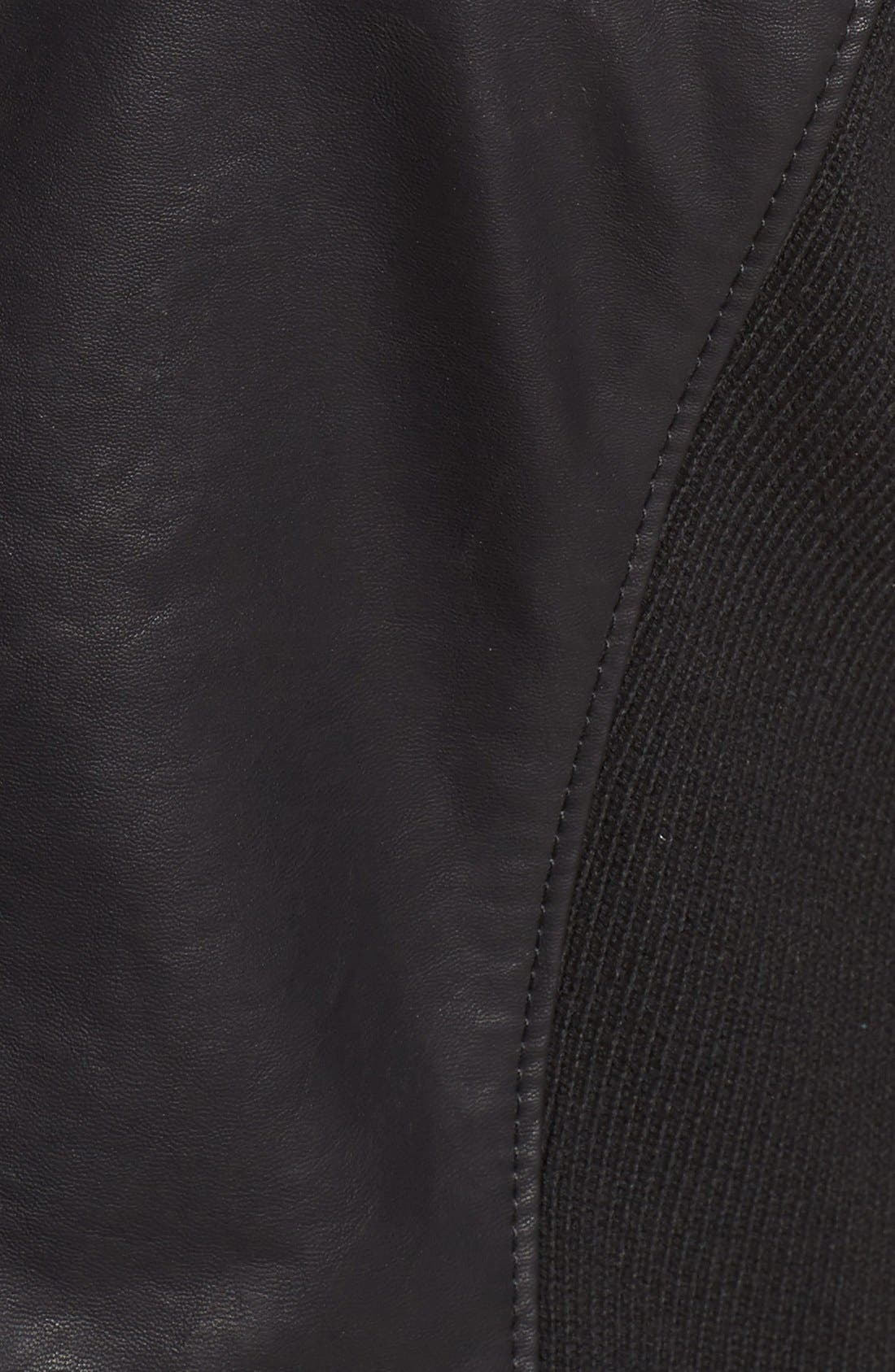 BLANKNYC, All or Nothing Faux Leather Jacket, Alternate thumbnail 6, color, 001