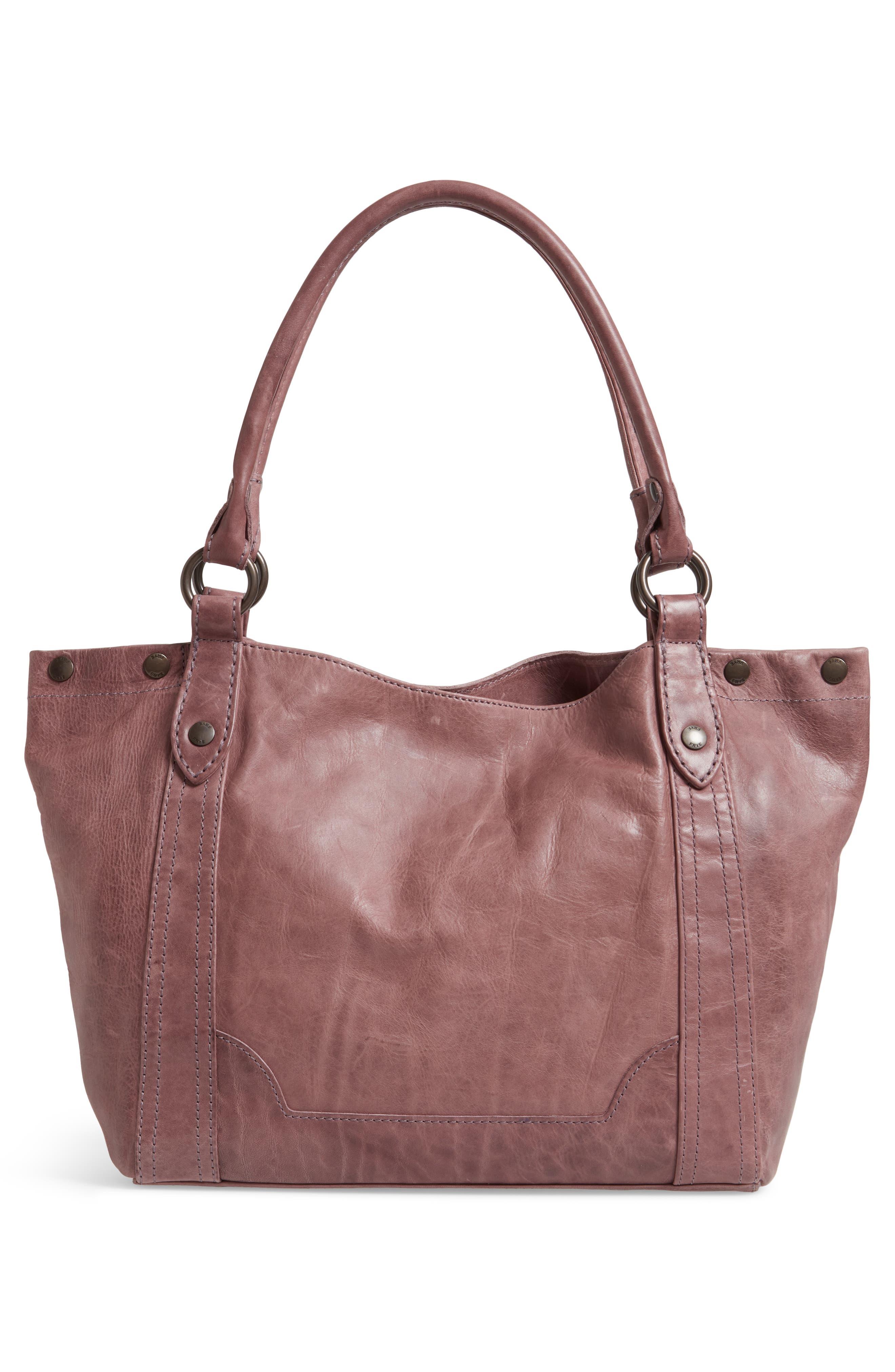 FRYE, Melissa Leather Shoulder Bag, Alternate thumbnail 4, color, LILAC