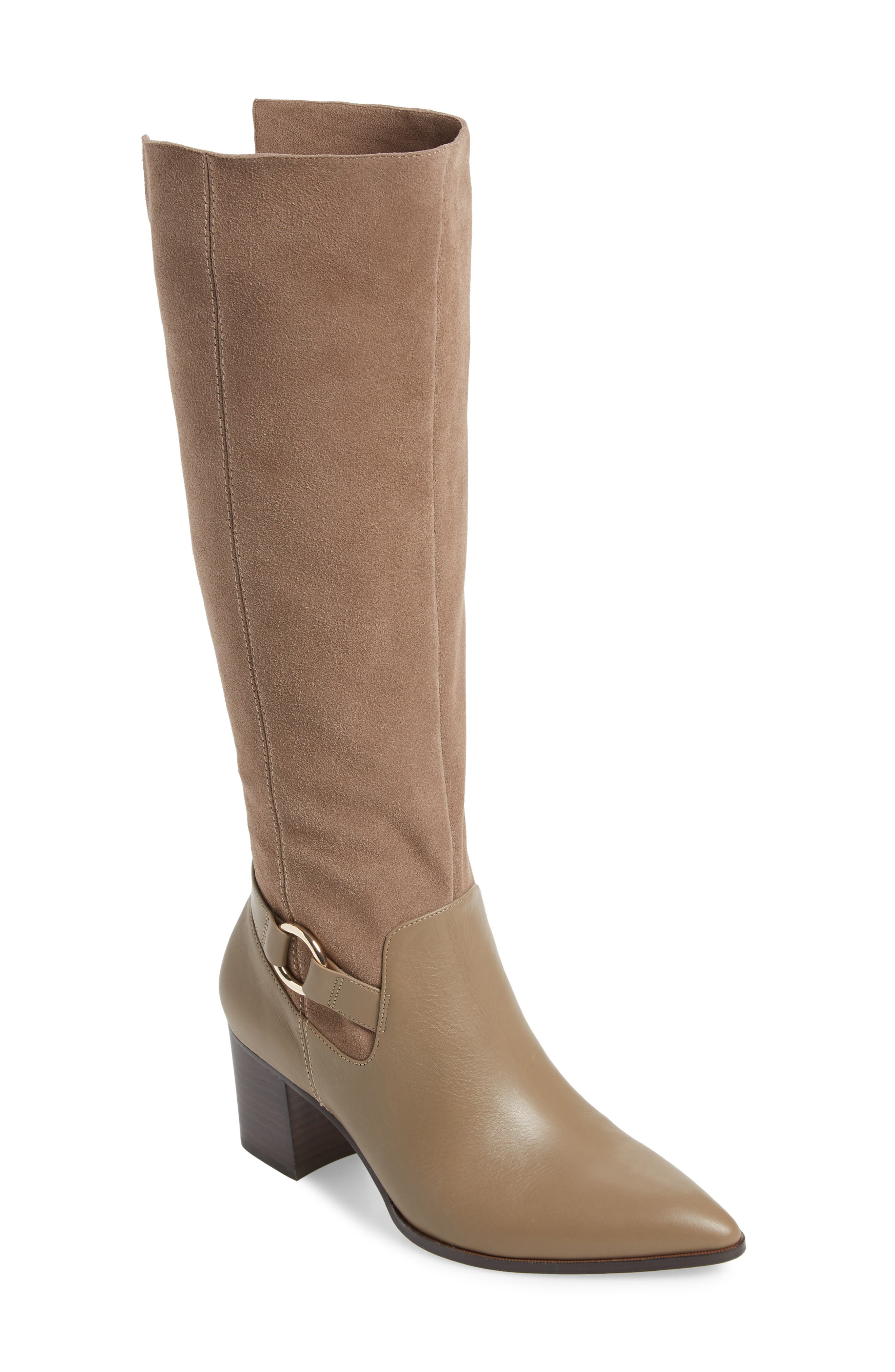 Sole Society Daleena Knee High Boot- Beige