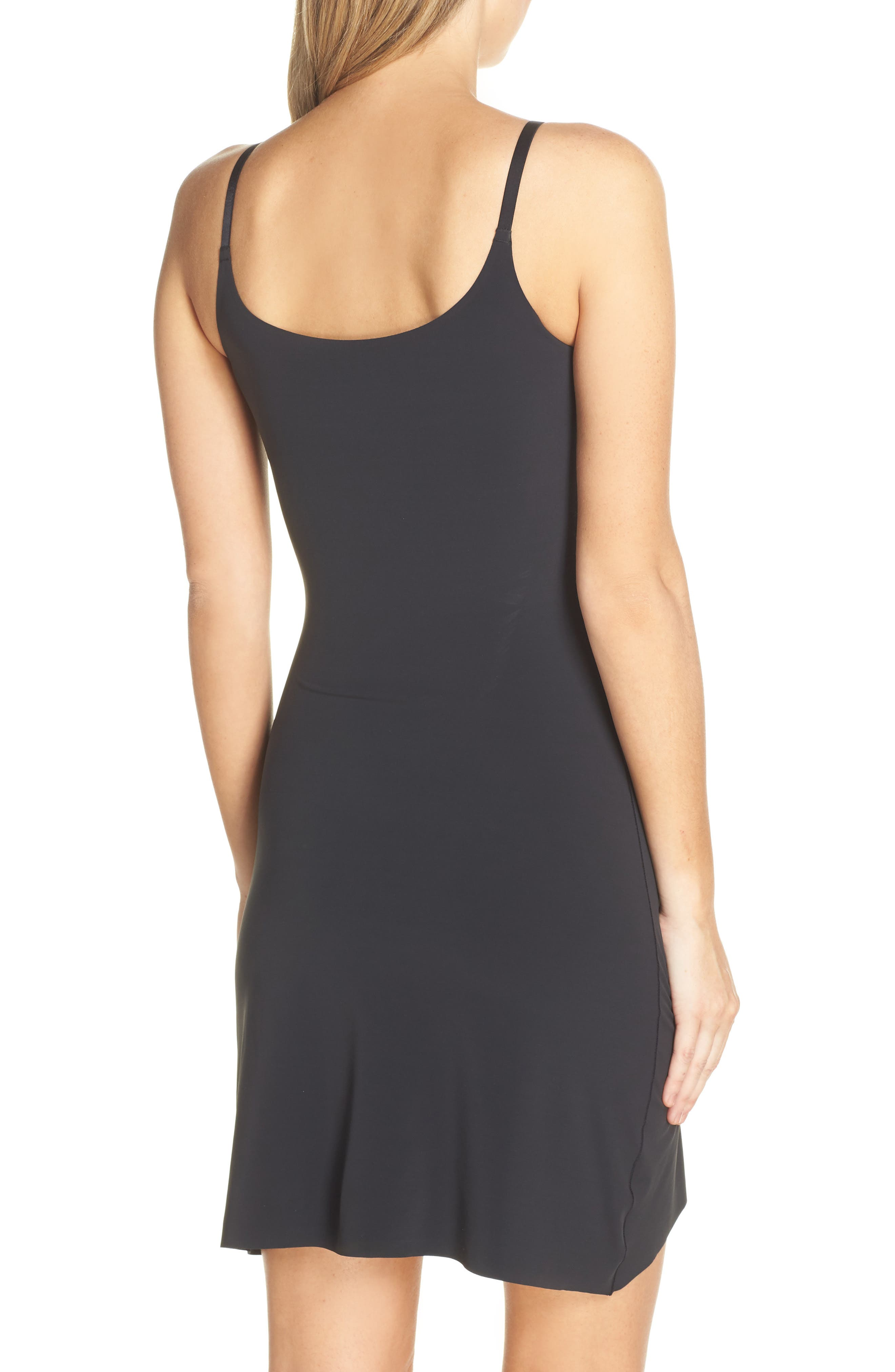 YUMMIE, Smooth Solutions A-Line Slip, Alternate thumbnail 2, color, BLACK