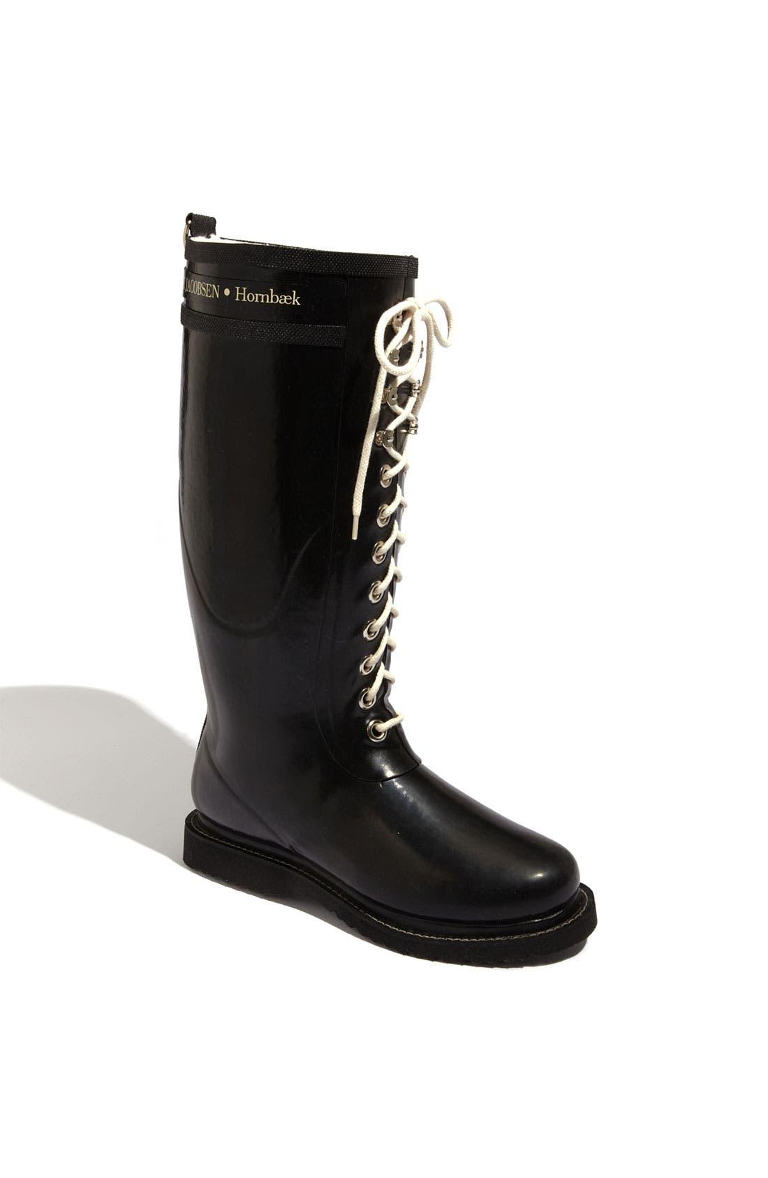ILSE JACOBSEN Rubber Boot, Main, color, BLACK