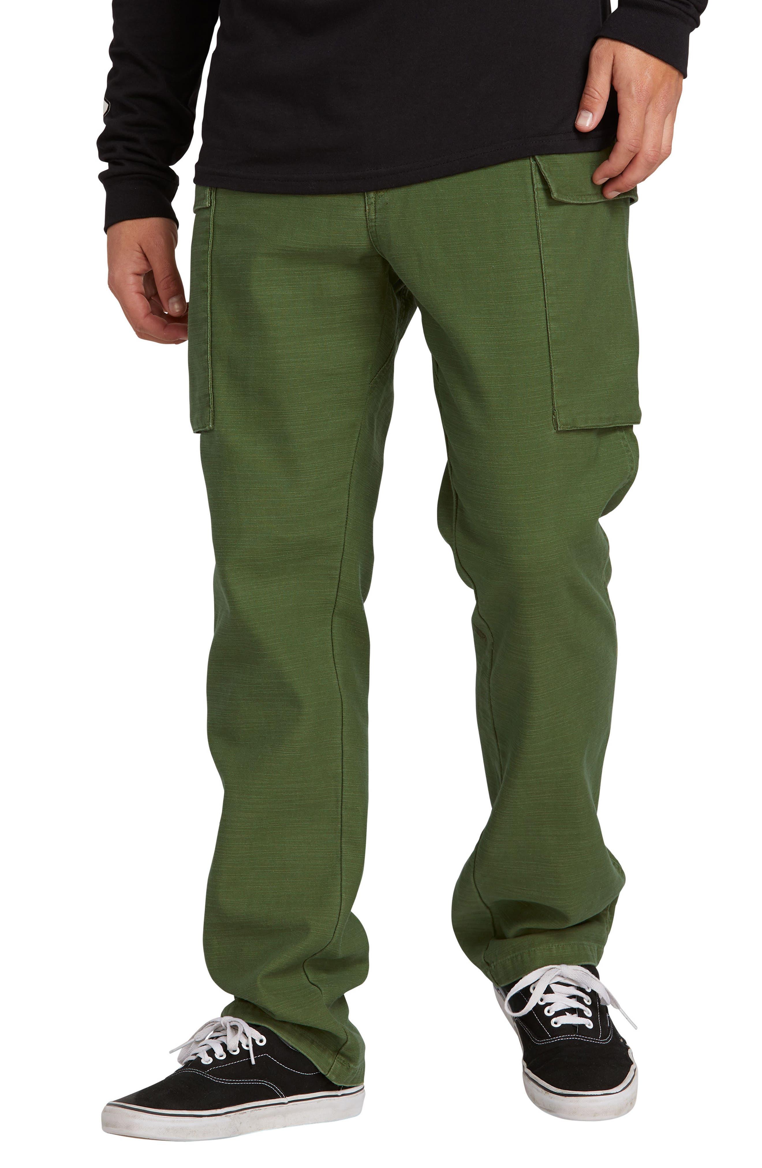 Volcom Gritter Cargo Pants, Green