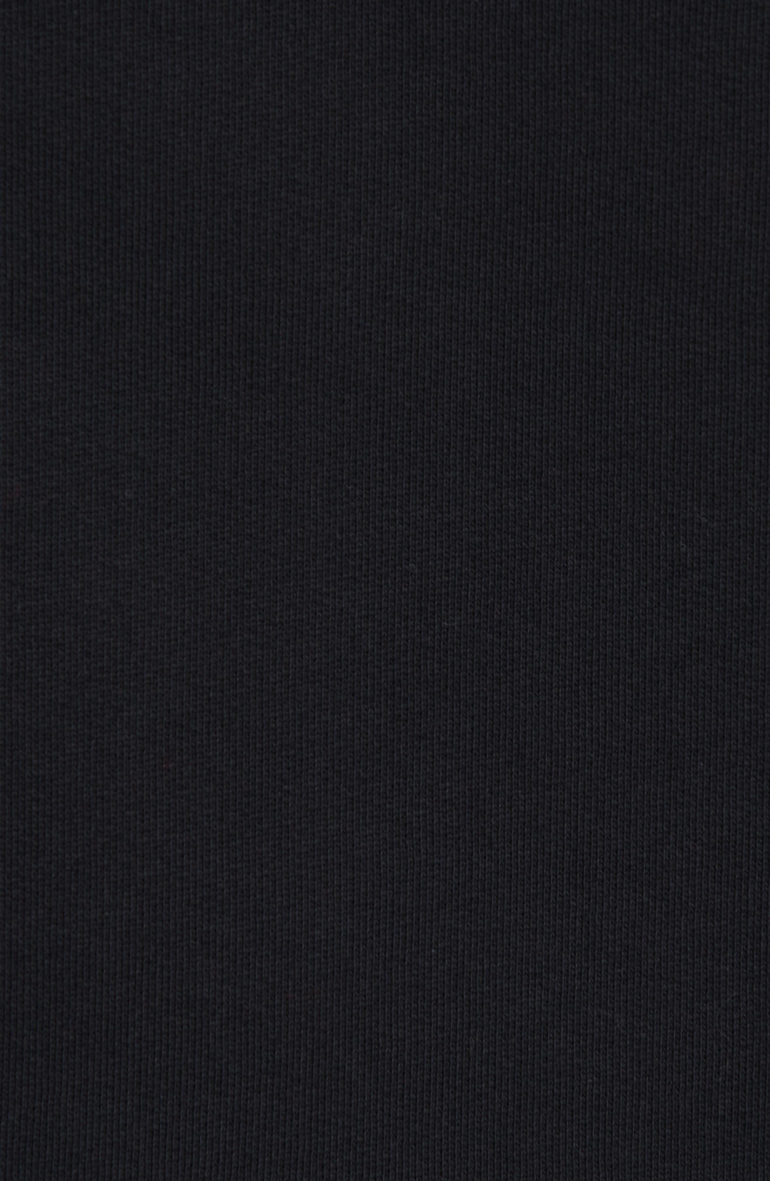 BURBERRY, Clarke Logo Hoodie, Alternate thumbnail 5, color, BLACK