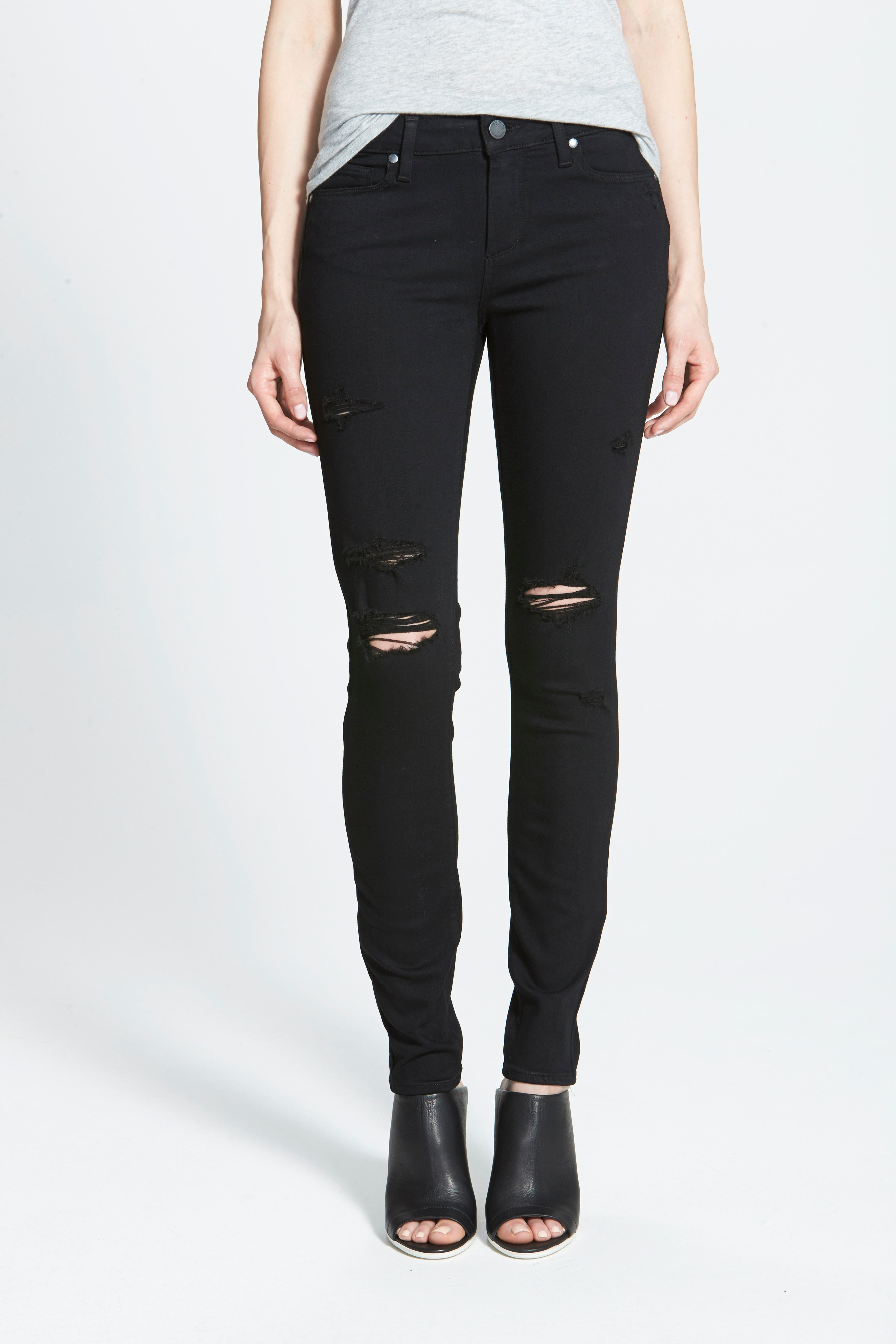 PAIGE, Transcend - Verdugo Ultra Skinny Jeans, Main thumbnail 1, color, 001