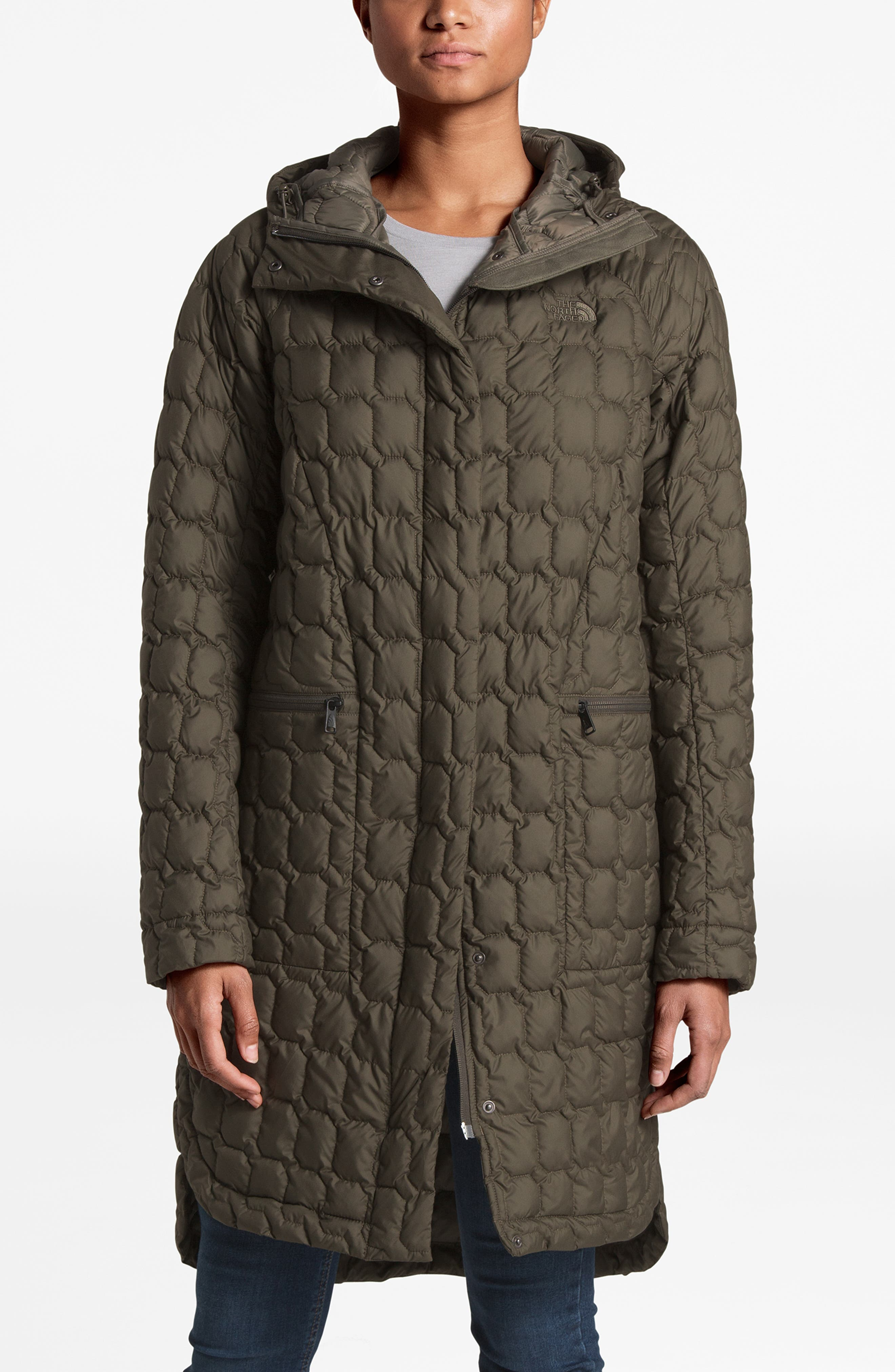 THE NORTH FACE, Thermoball<sup>™</sup> Water Resistant Duster Jacket, Alternate thumbnail 8, color, 301