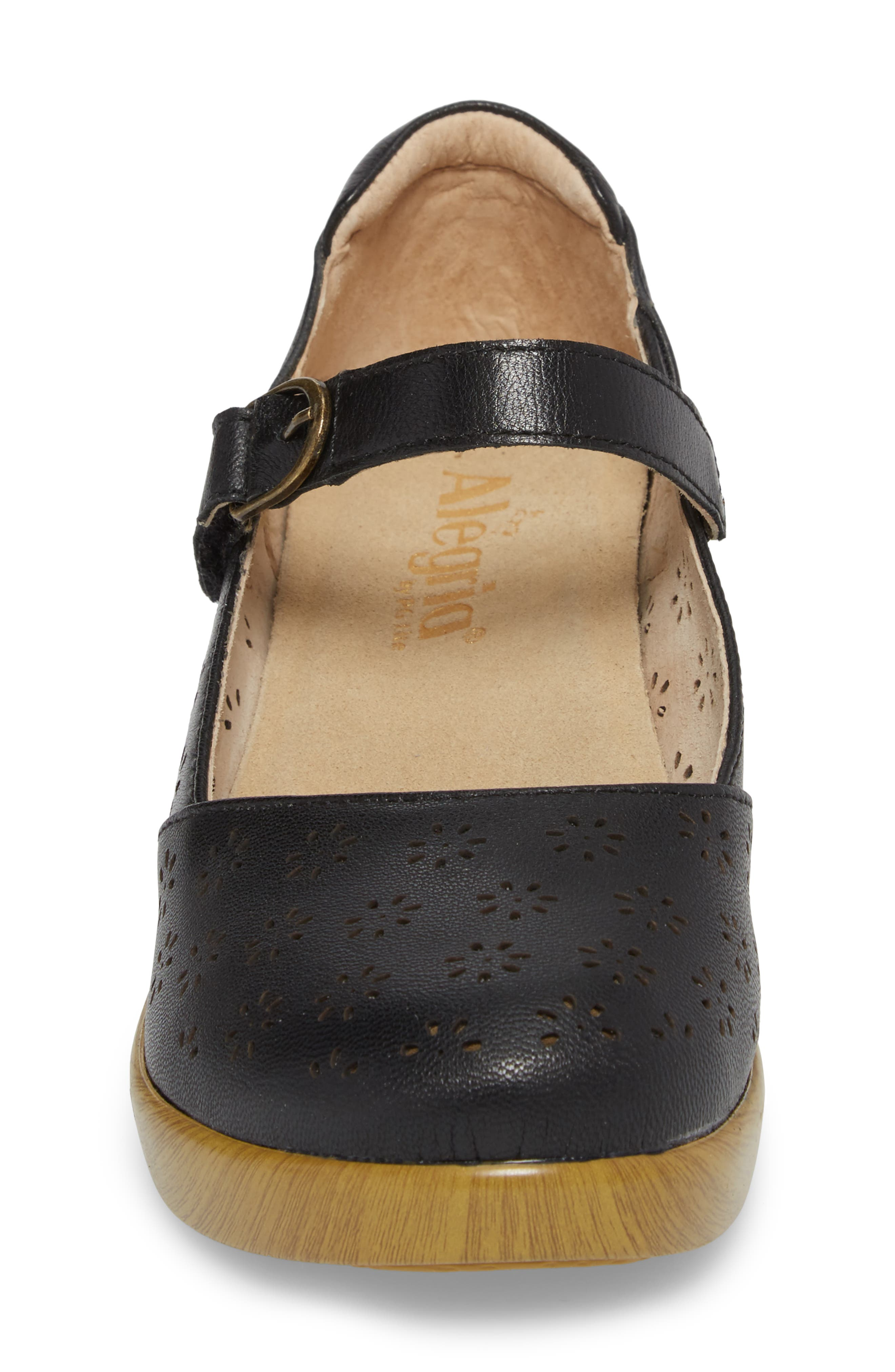 ALEGRIA, by PG Lite Rene Mary Jane Shoe, Alternate thumbnail 4, color, BLACK BURNISH LEATHER