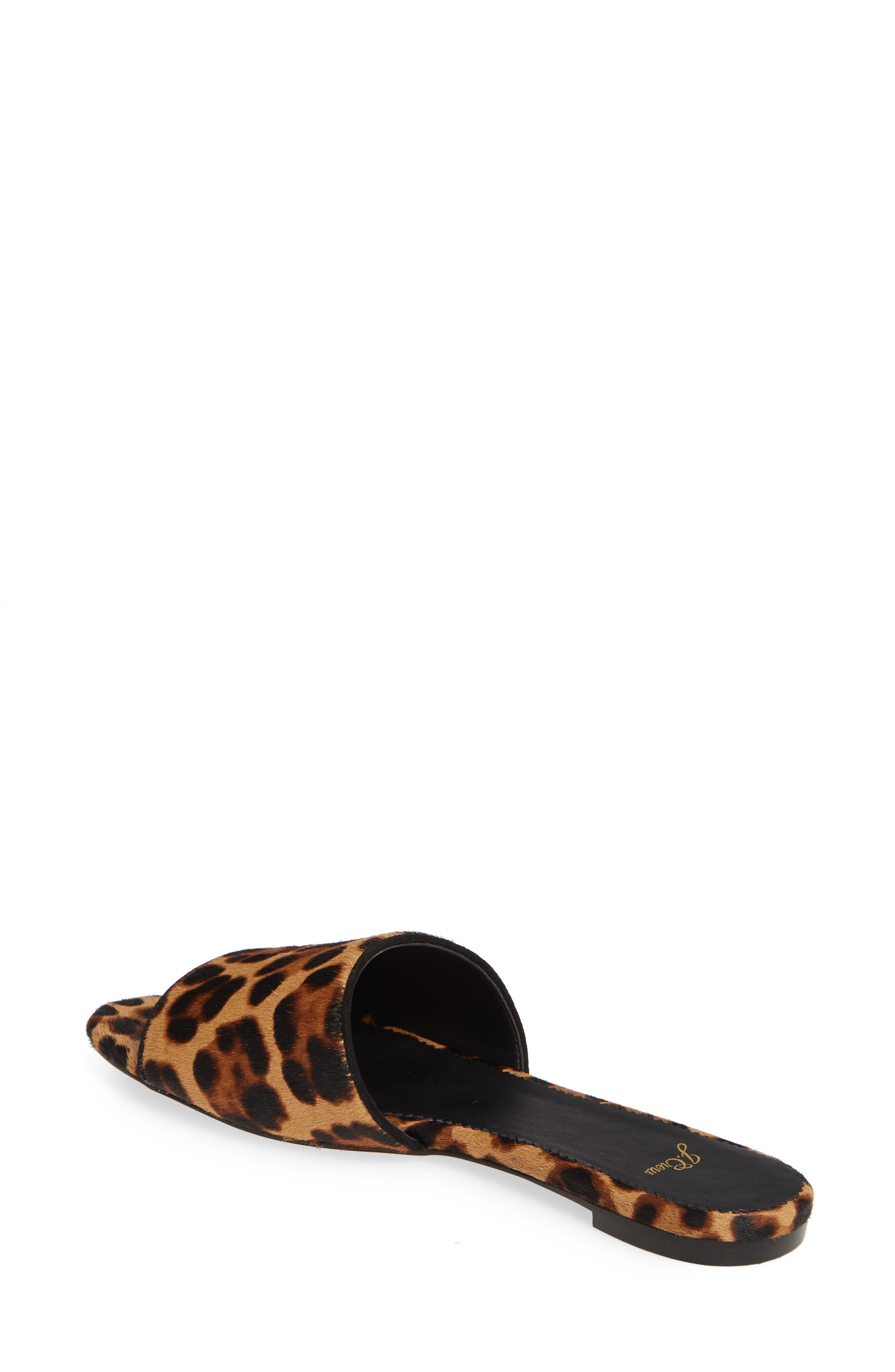 J.CREW, Cora Leopard Print Calf Hair Slide Sandal, Alternate thumbnail 2, color, LEOPARD PRINT CALF HAIR