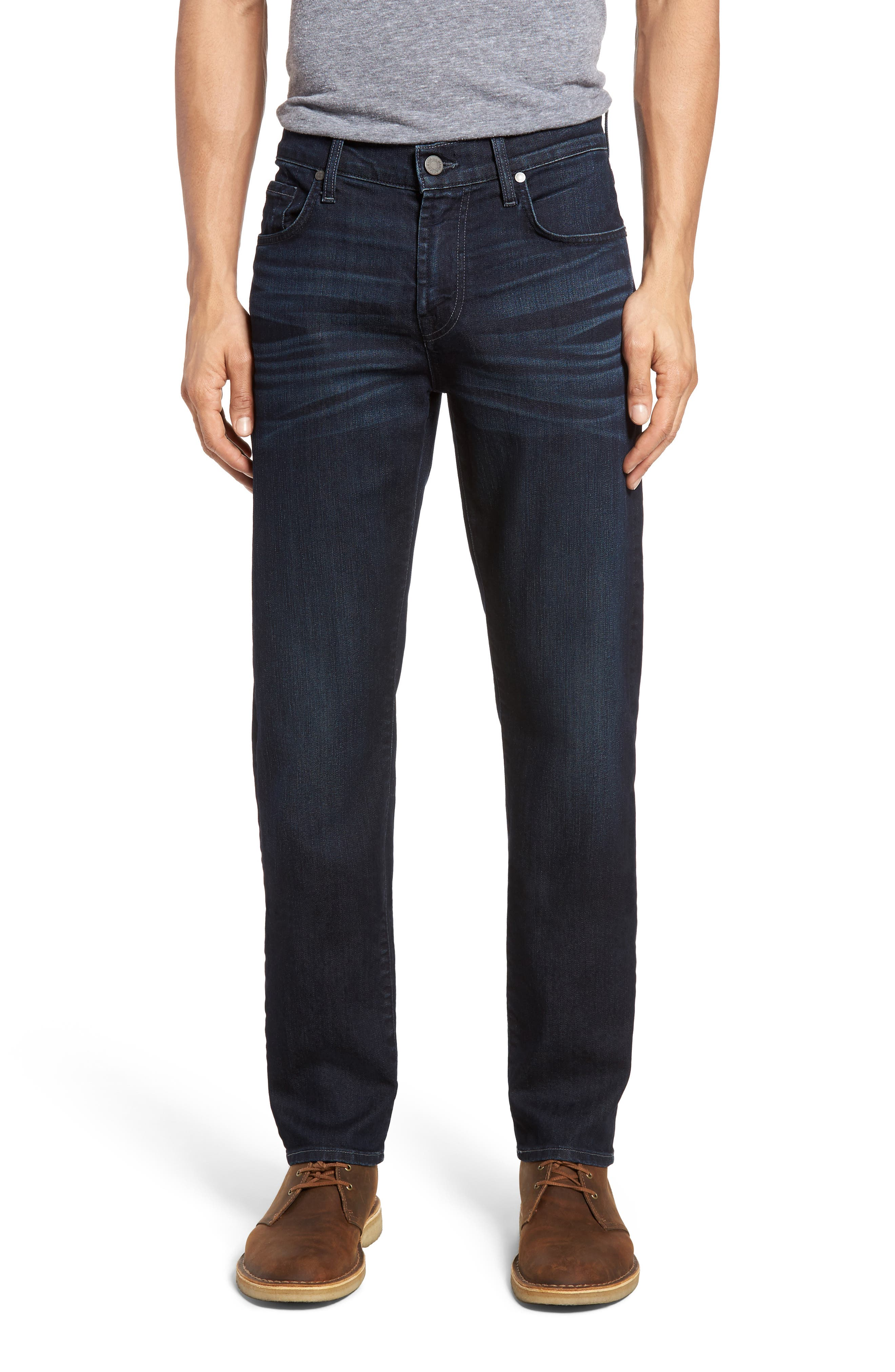 7 FOR ALL MANKIND<SUP>®</SUP>, Slimmy AirWeft Slim Fit Jeans, Main thumbnail 1, color, PERENNIAL
