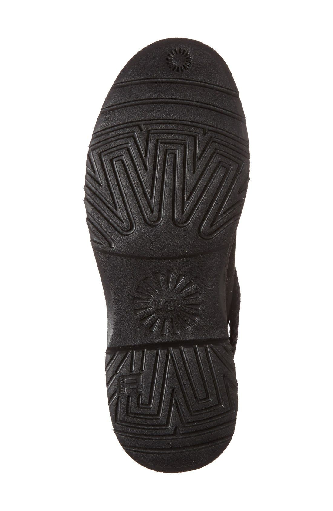 UGG<SUP>®</SUP>, McKay Water Resistant Bootie, Alternate thumbnail 4, color, BLACK SUEDE