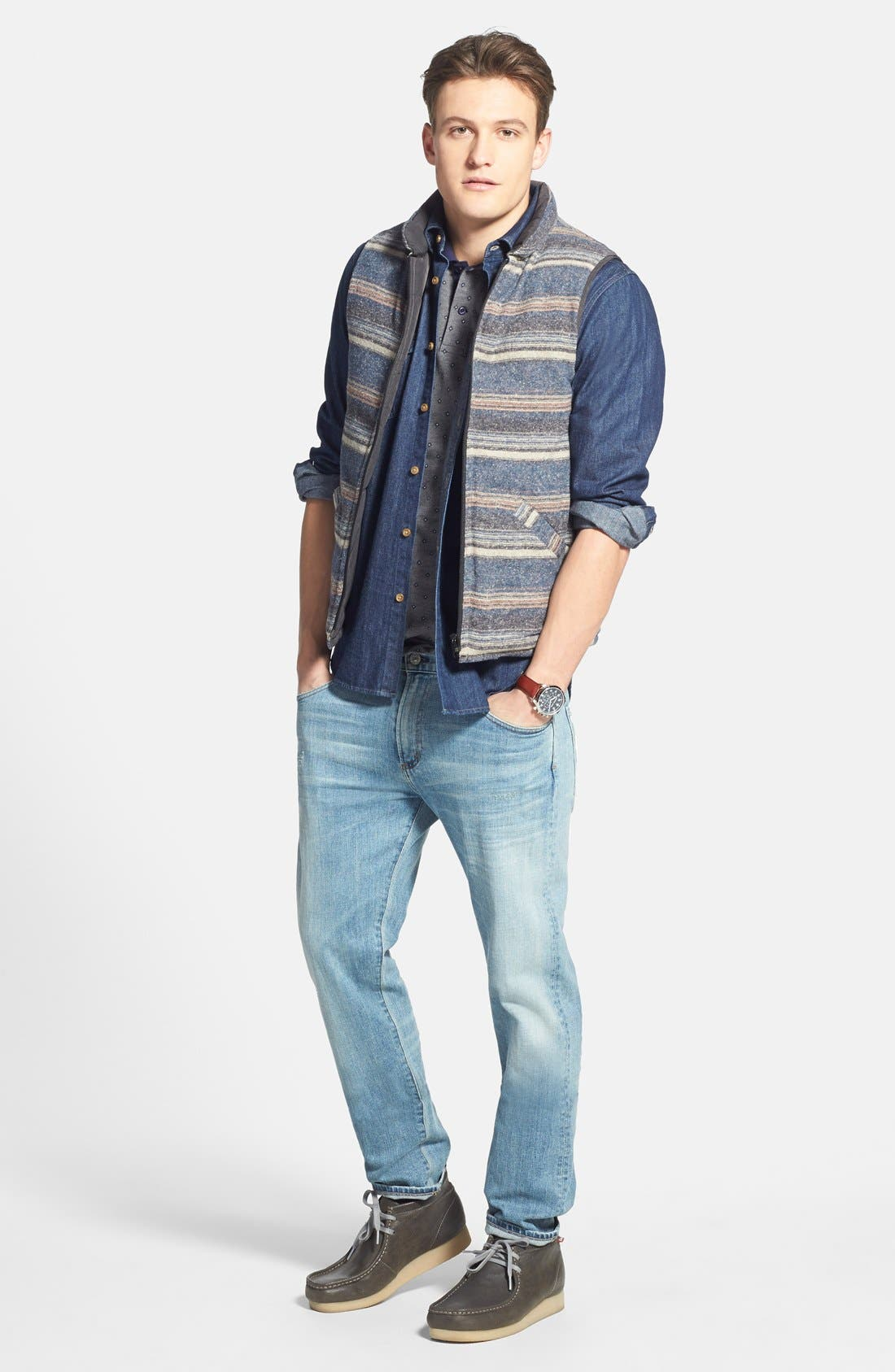 CITIZENS OF HUMANITY, 'Core' Slim Straight Leg Jeans, Alternate thumbnail 6, color, 458