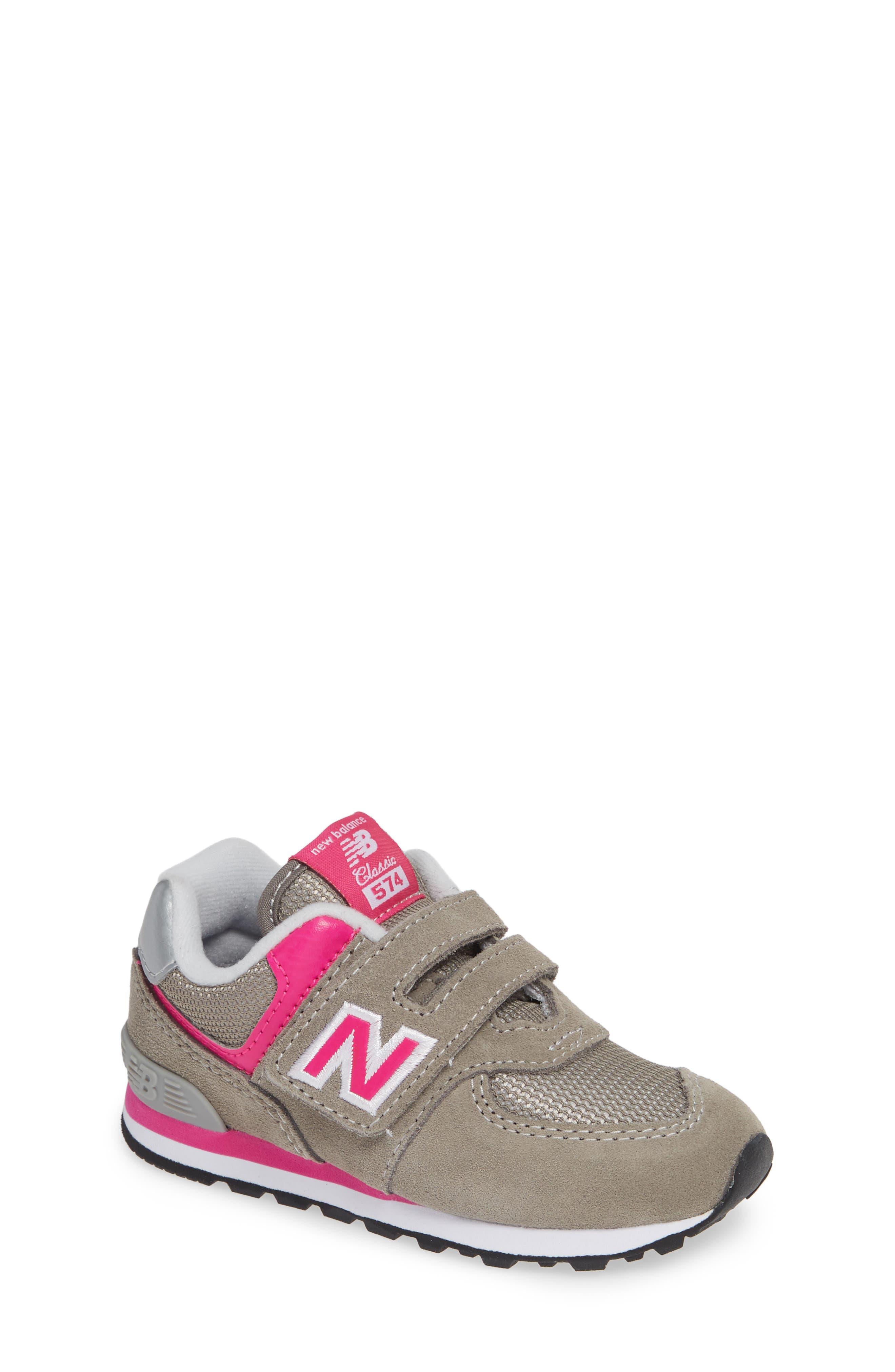 NEW BALANCE, '574 Core' Sneaker, Main thumbnail 1, color, GREY/ PINK