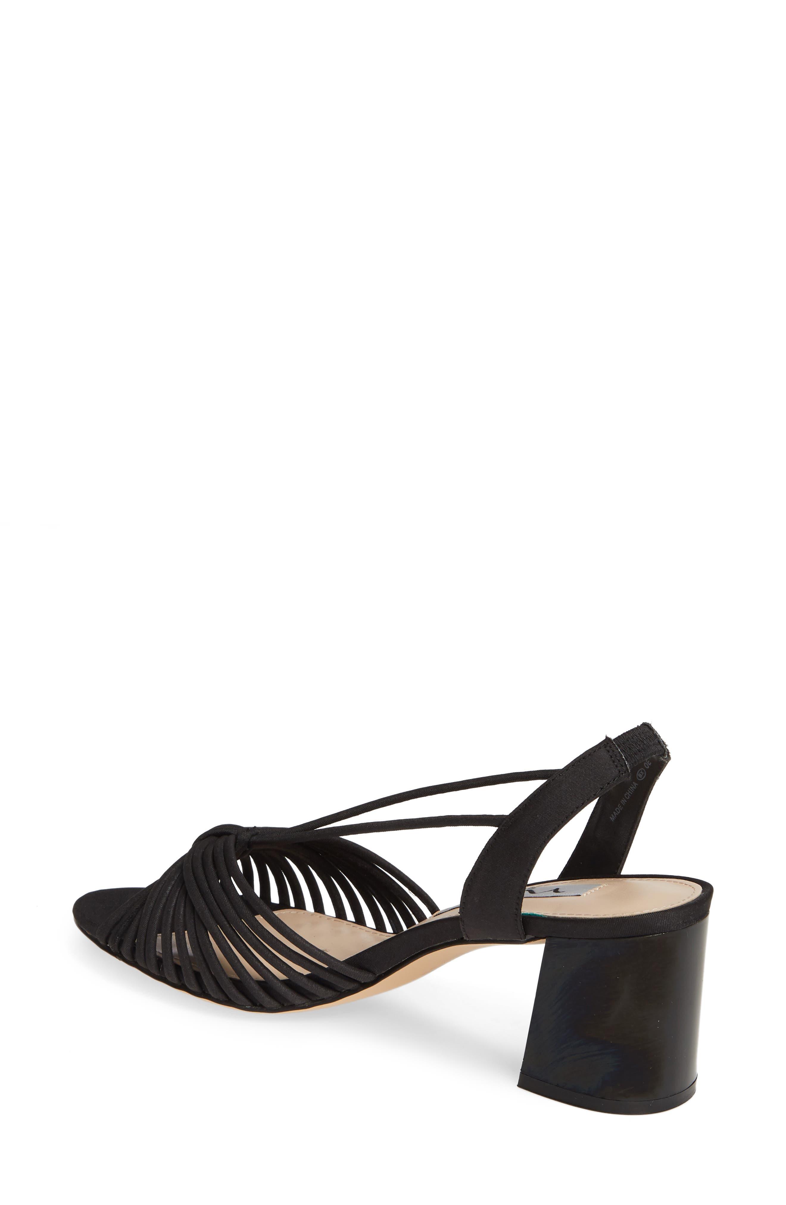 NINA, Nadelyn Strappy Sandal, Alternate thumbnail 2, color, BLACK FABRIC