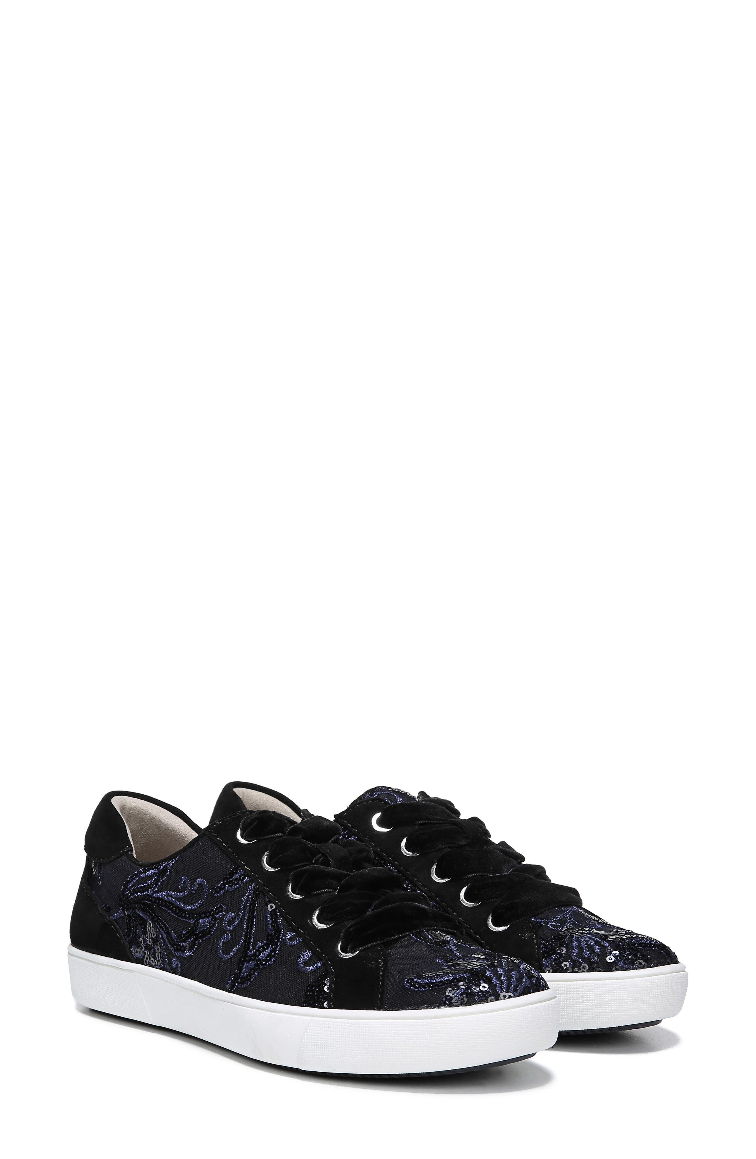 NATURALIZER, Morrison Sneaker, Alternate thumbnail 8, color, NAVY EMBROIDERED LACE