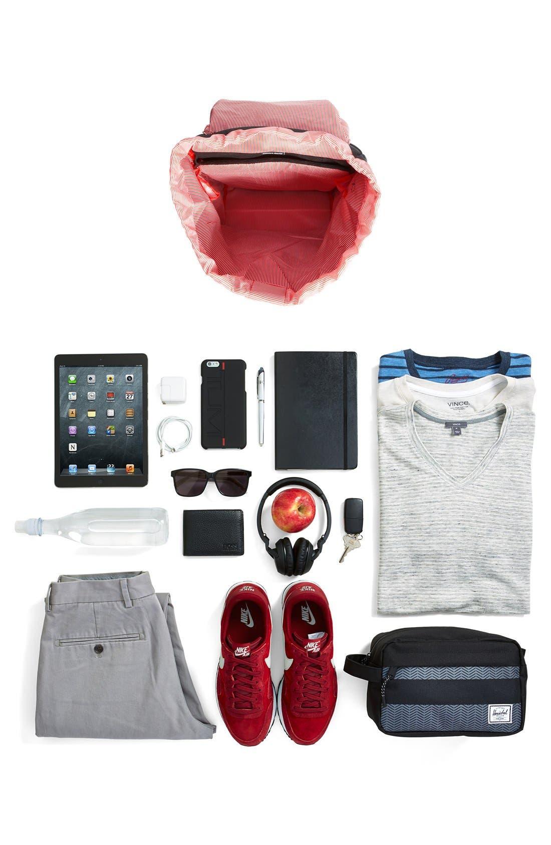 HERSCHEL SUPPLY CO., 'Little America' Backpack, Alternate thumbnail 8, color, BLACK