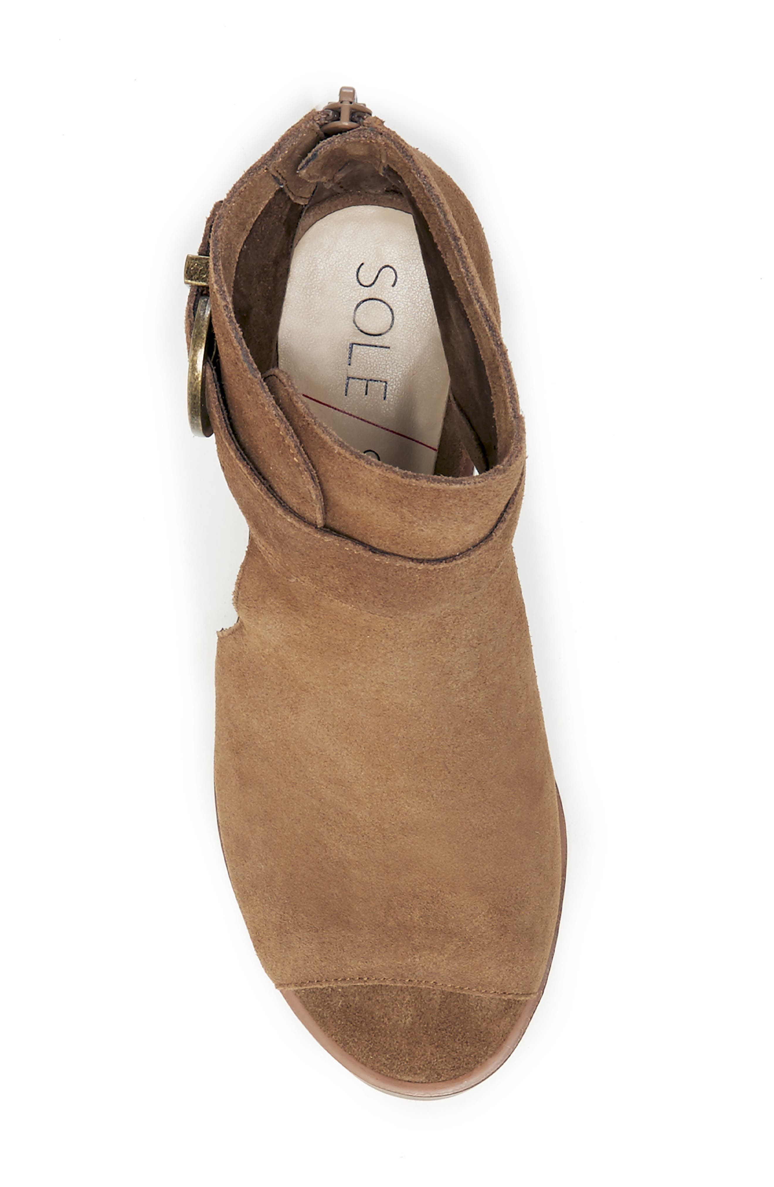 SOLE SOCIETY, Tracy Block Heel Sandal, Alternate thumbnail 3, color, TOBACCO SUEDE