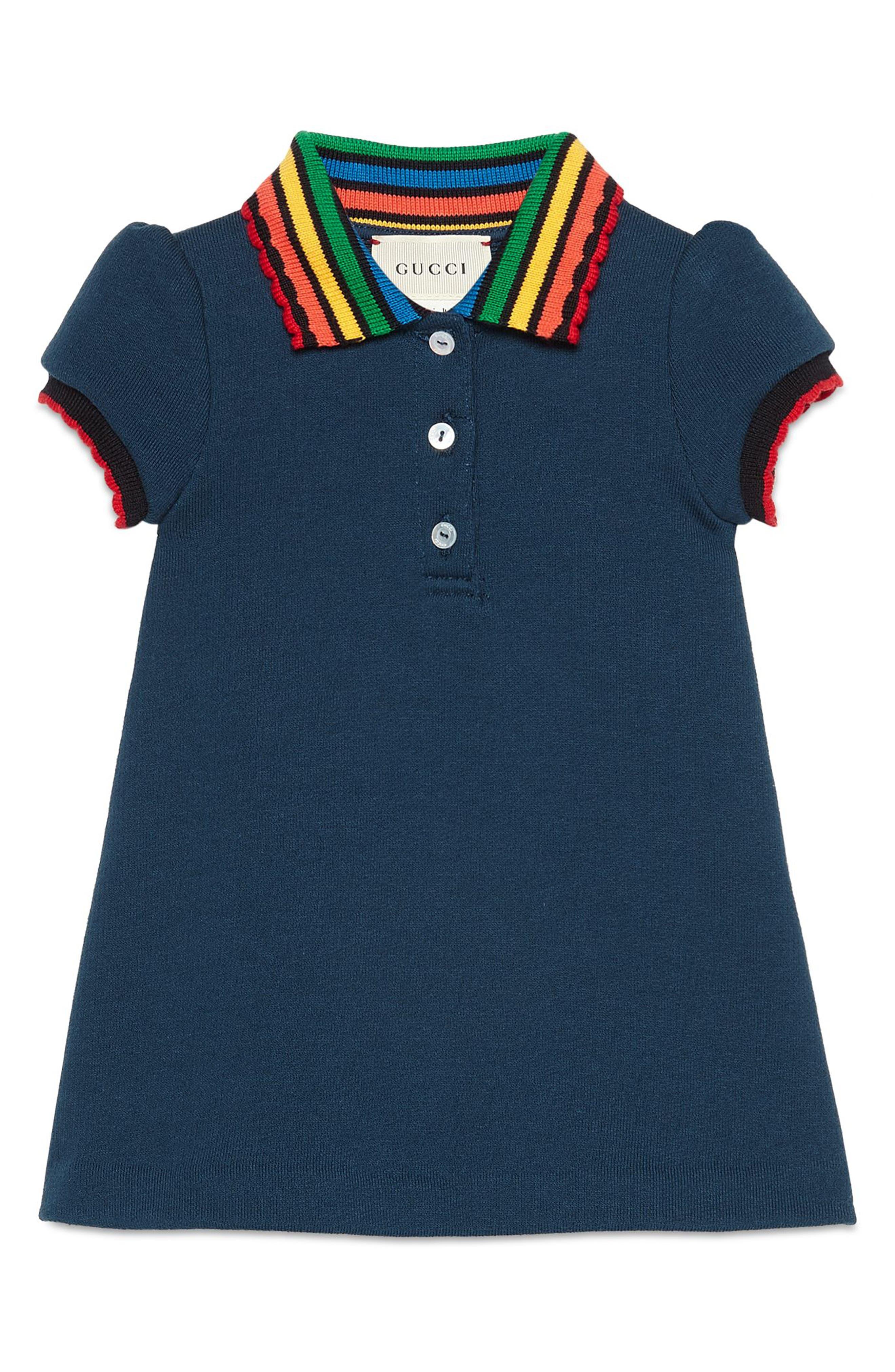 GUCCI Fawns Polo Dress, Main, color, 400