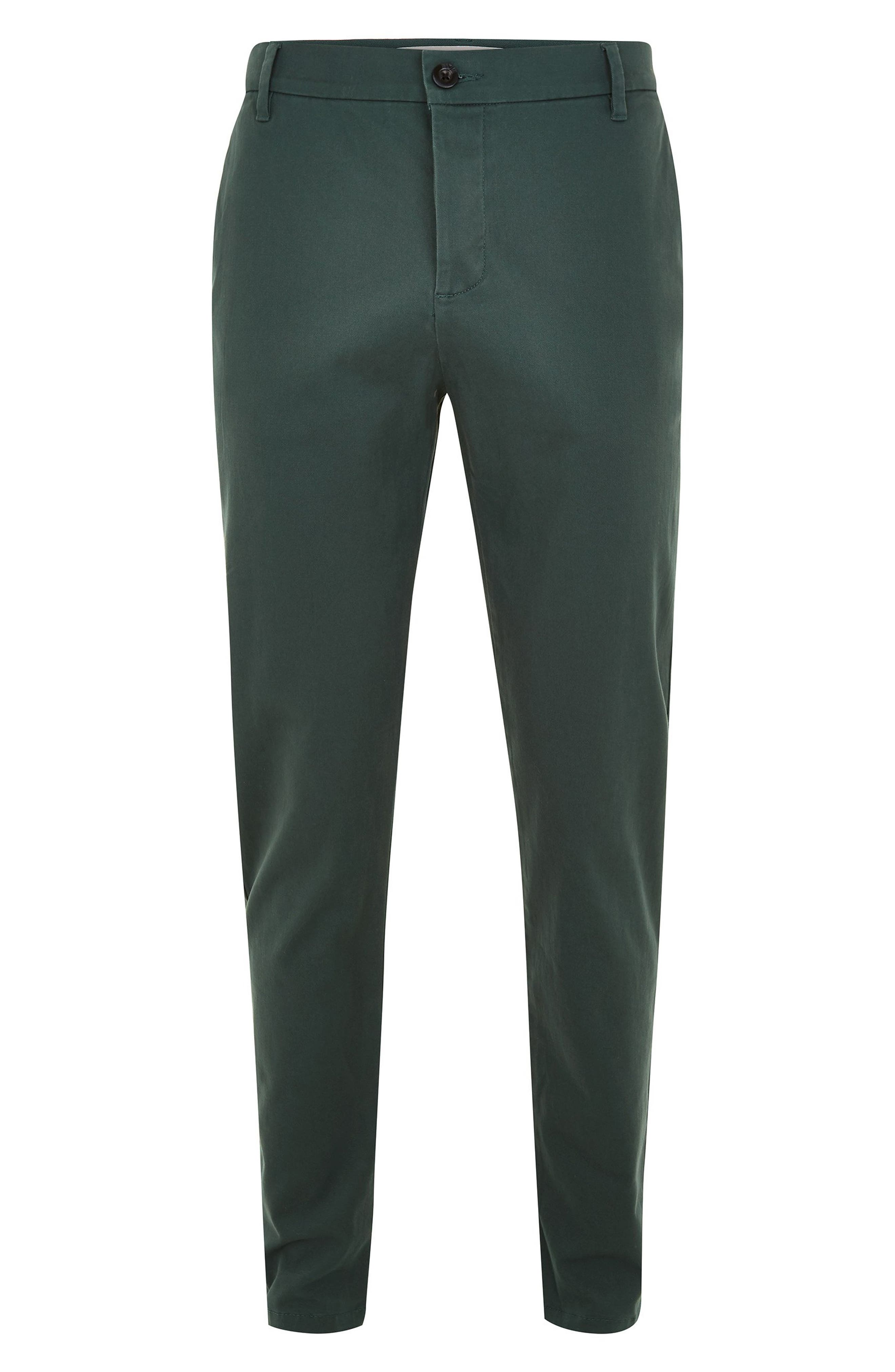 TOPMAN, Stretch Skinny Fit Chinos, Alternate thumbnail 3, color, GREEN