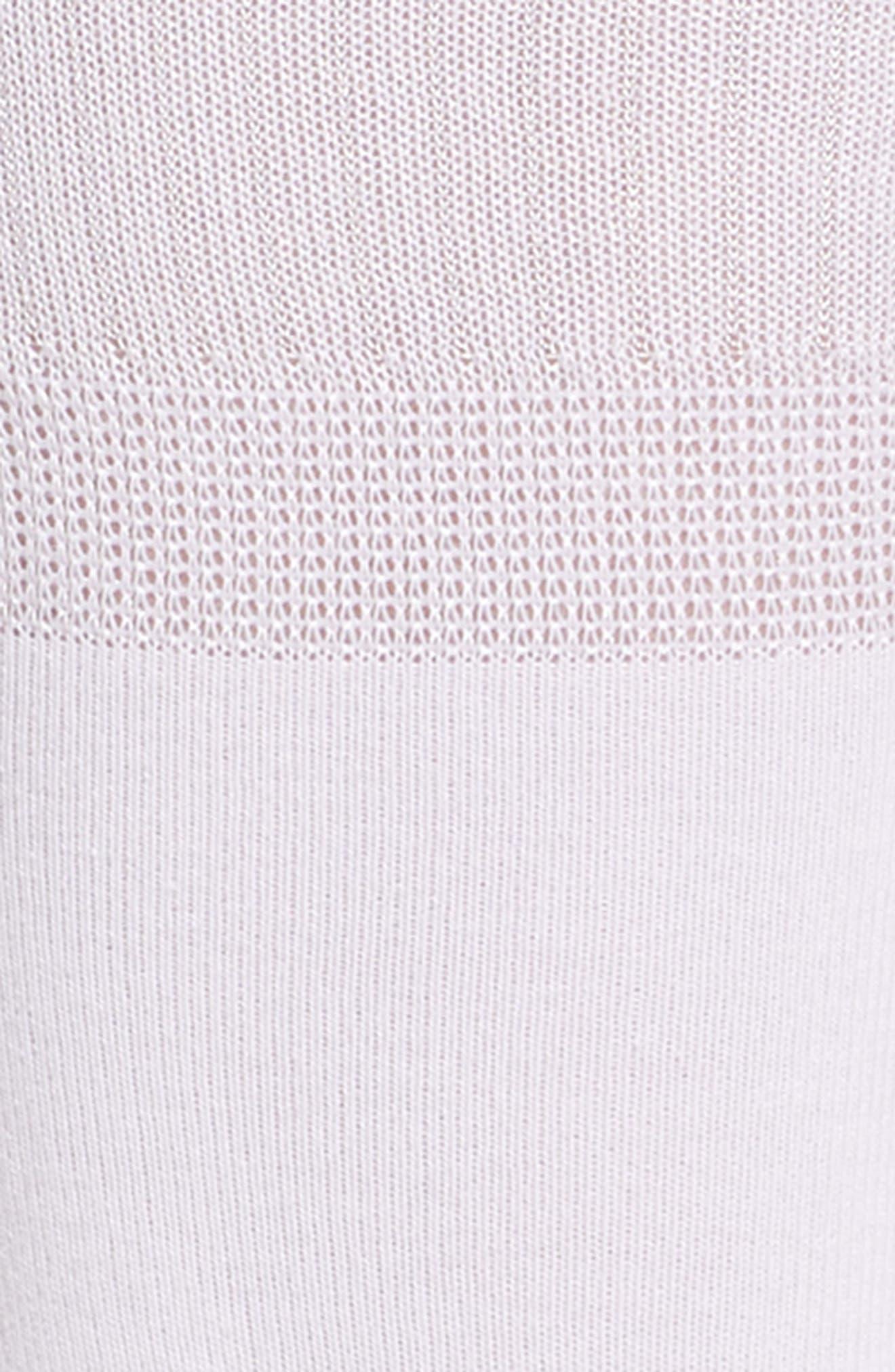 MAKE + MODEL, Dual Band Crew Socks, Alternate thumbnail 2, color, WHITE