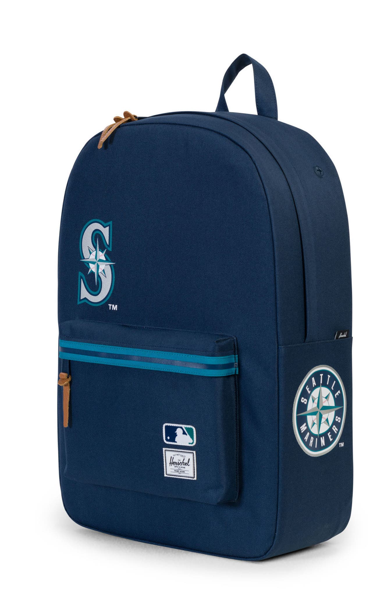 HERSCHEL SUPPLY CO., Heritage Seattle Mariners Backpack, Alternate thumbnail 4, color, SEATTLE MARINERS