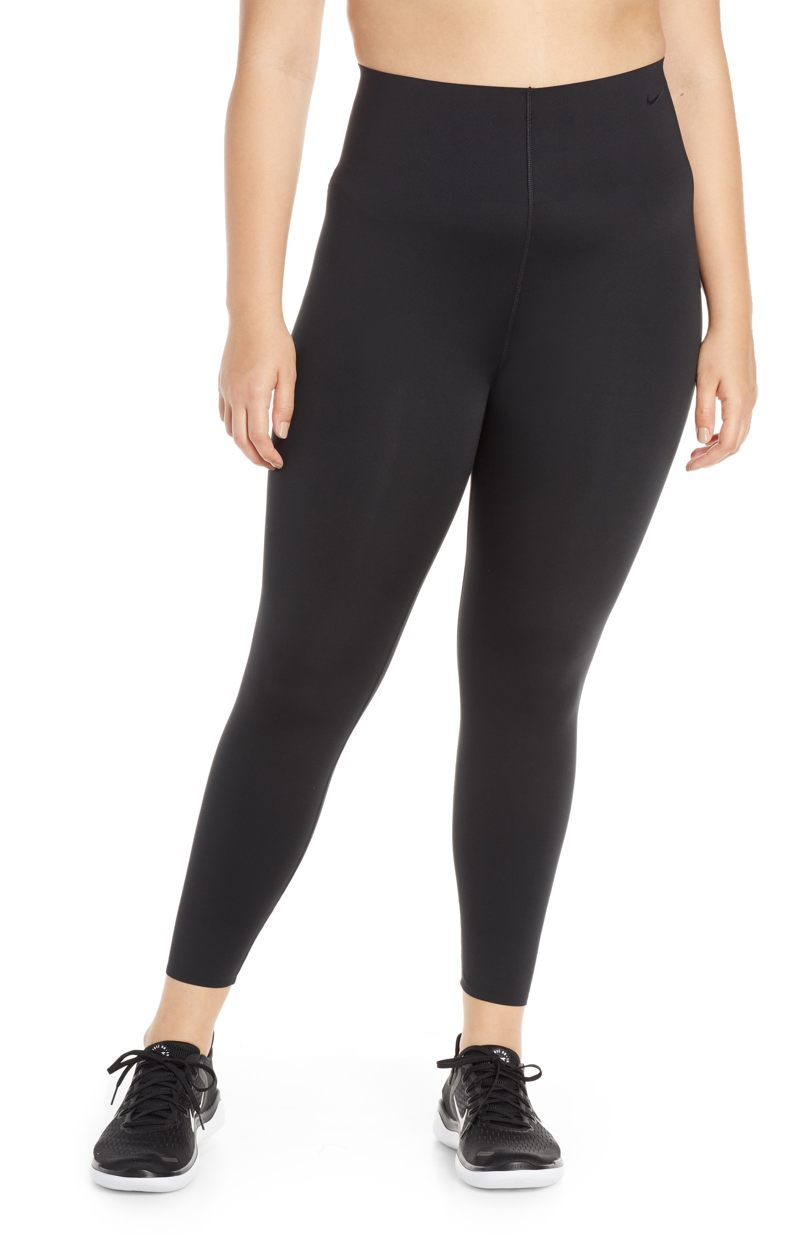 NIKE, Dry Sculpt Lux Tights, Alternate thumbnail 2, color, BLACK/ CLEAR