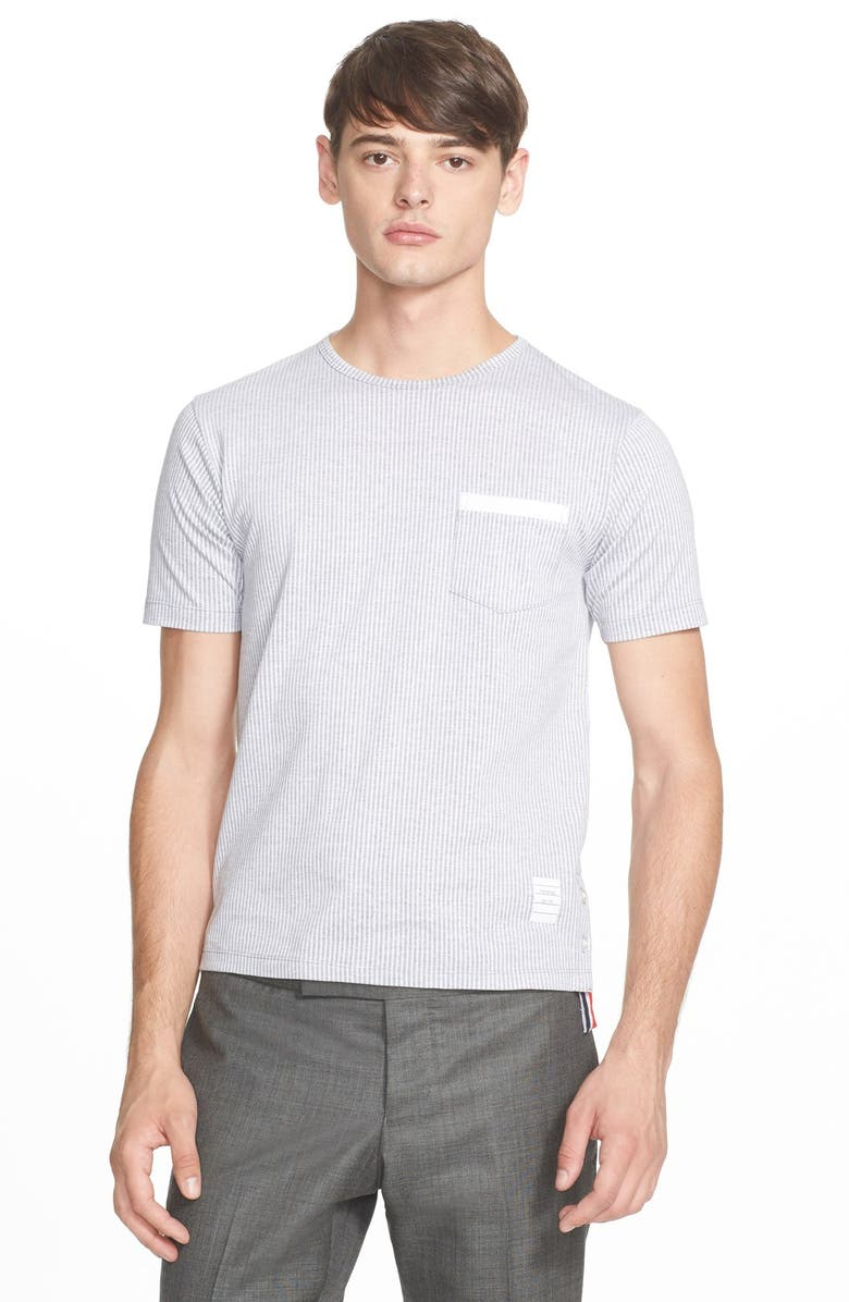 a7276957fc THOM BROWNE Stripe Pocket T-Shirt, Main, color, 068