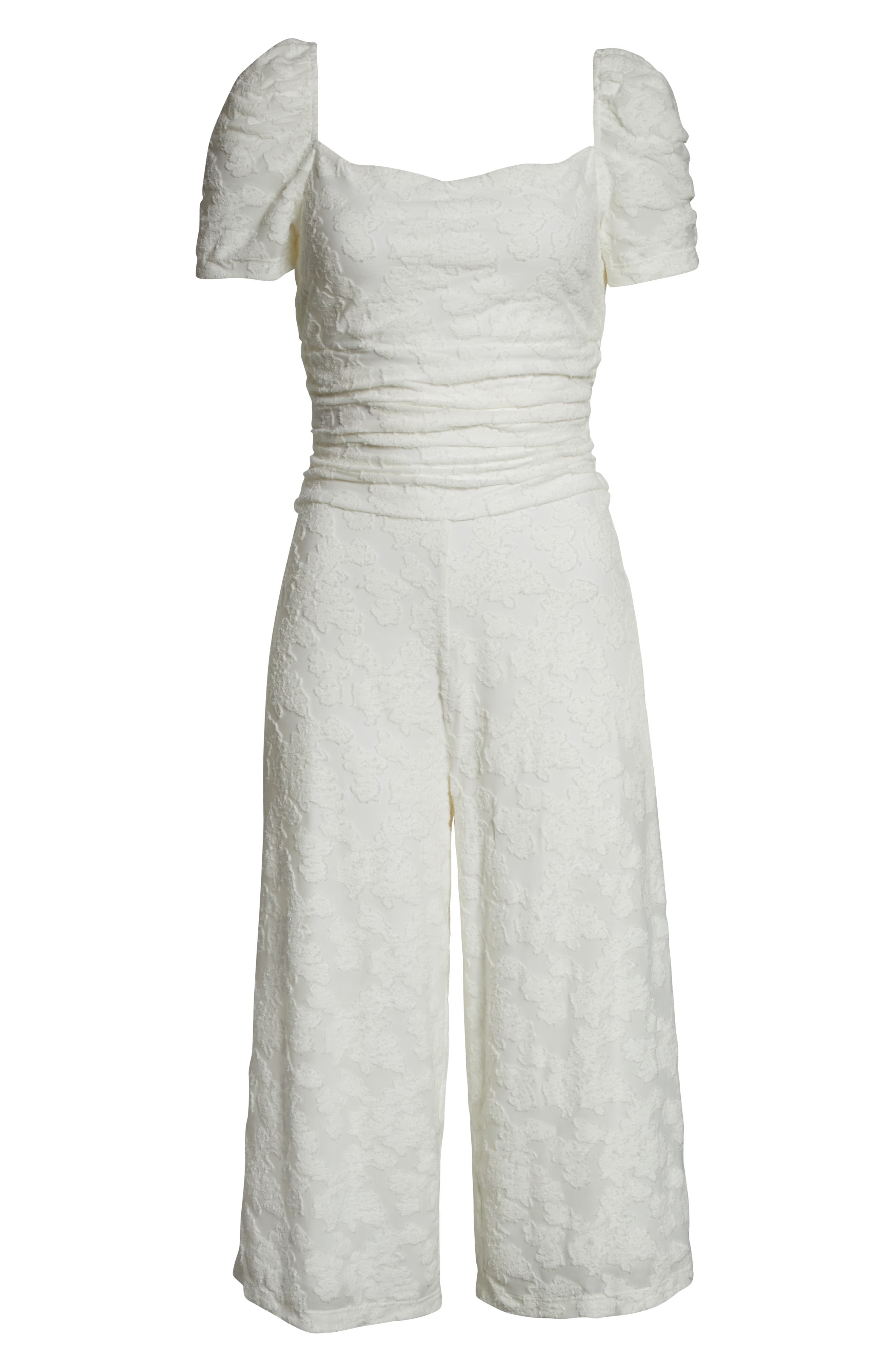 ALI & JAY, Lunching Lady Crop Jumpsuit, Alternate thumbnail 7, color, WHITE FLORAL