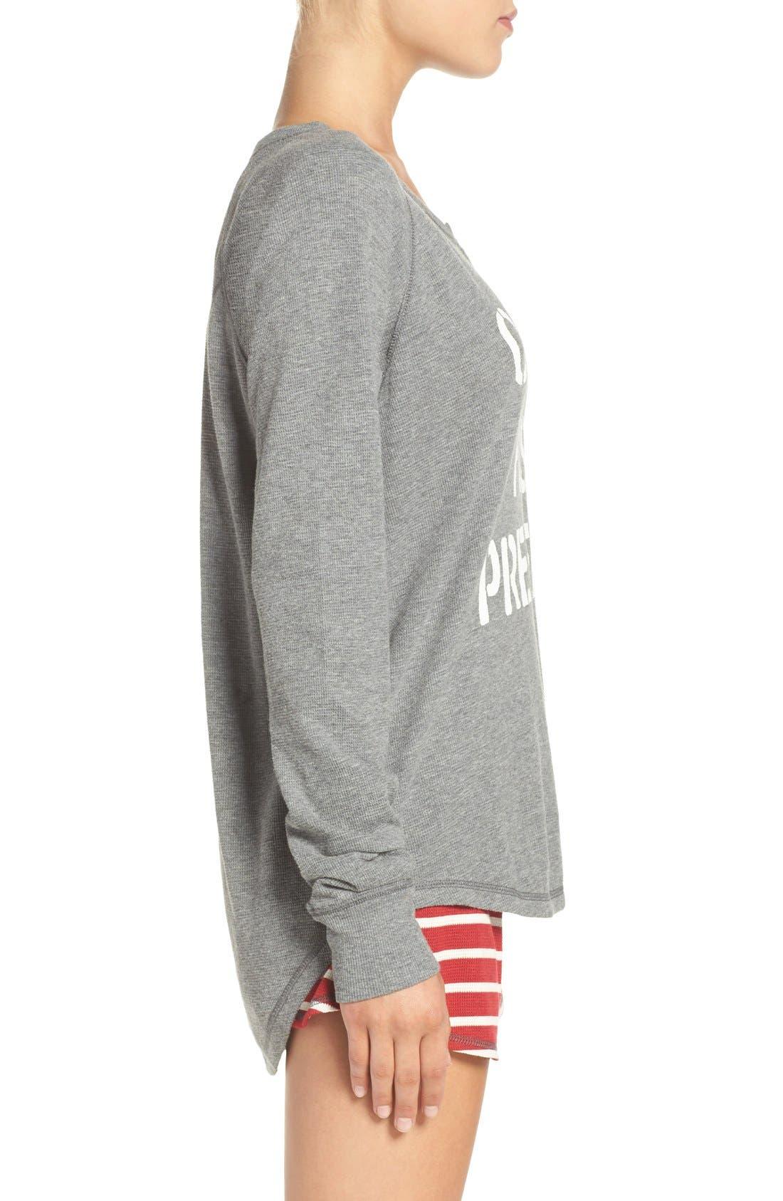 PJ SALVAGE, Thermal Pajamas, Alternate thumbnail 4, color, 020
