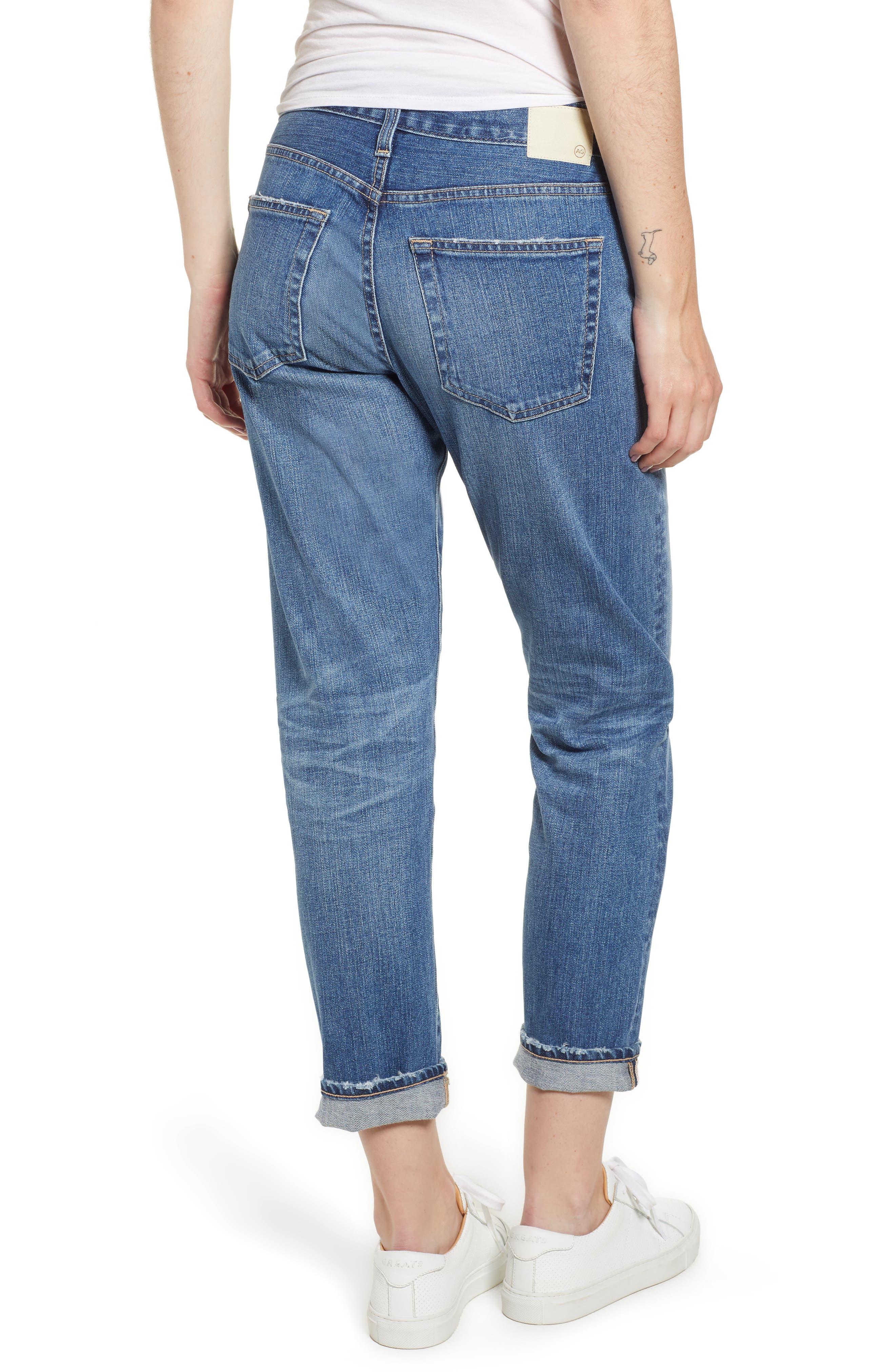 AG, Ex-Boyfriend Crop Slim Jeans, Alternate thumbnail 2, color, 417