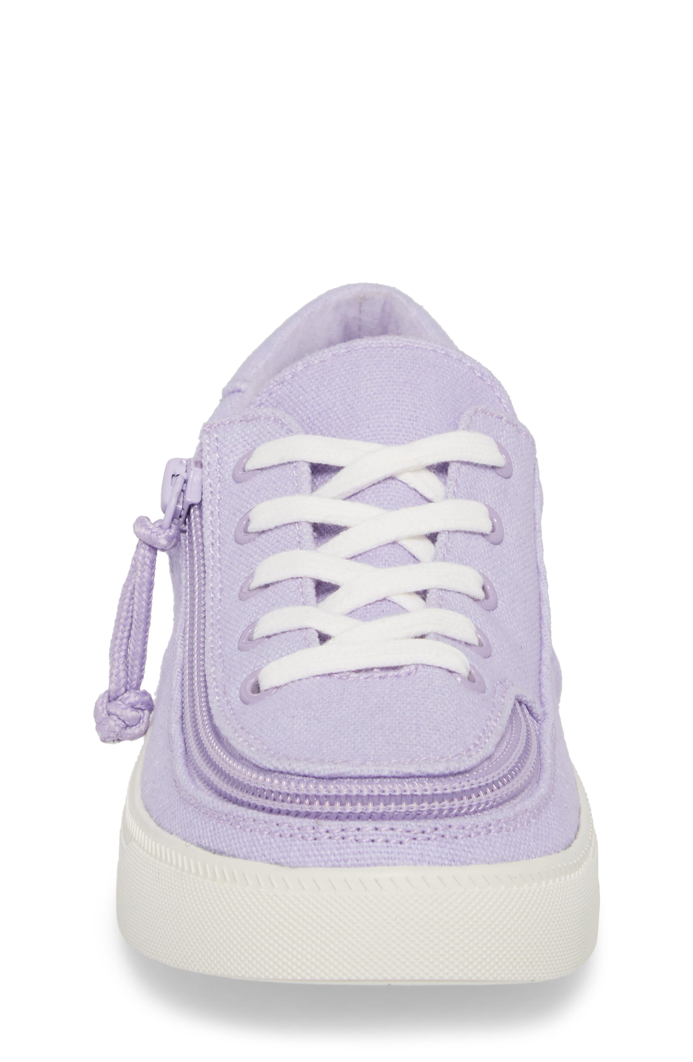 BILLY FOOTWEAR, Classic Zip Around Low Top Sneaker, Alternate thumbnail 5, color, LAVENDER