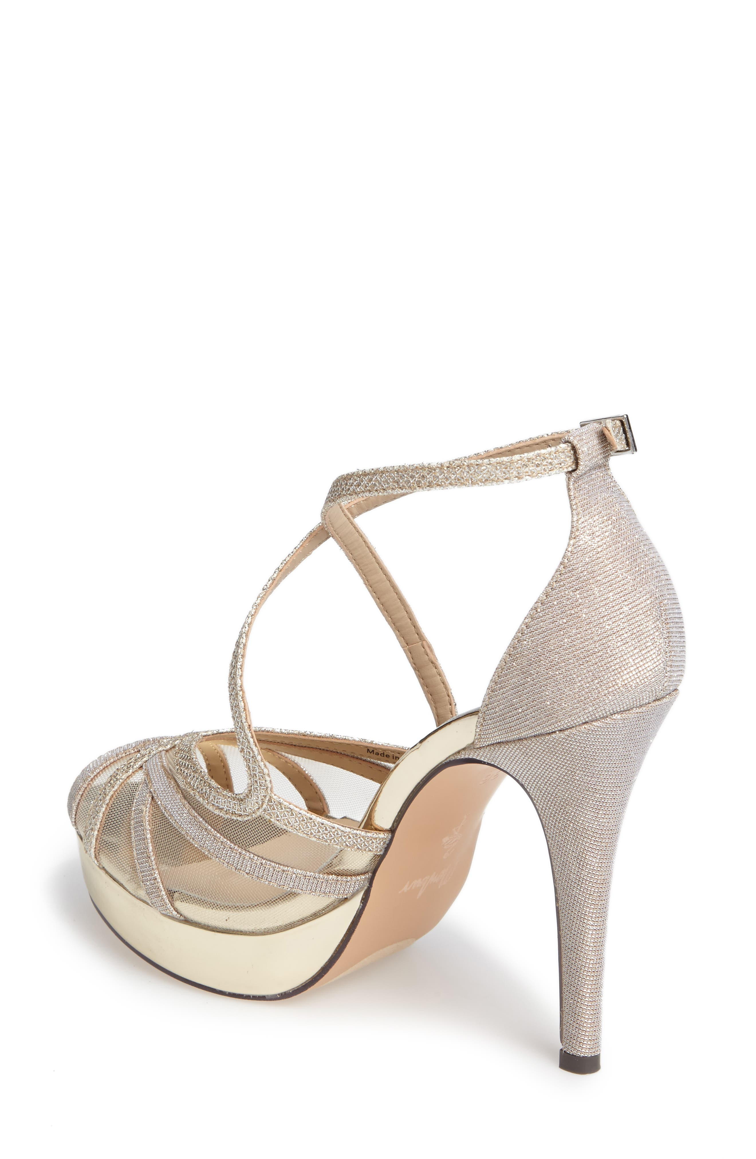 MENBUR, Rosa Platform Evening Sandal, Alternate thumbnail 2, color, 021