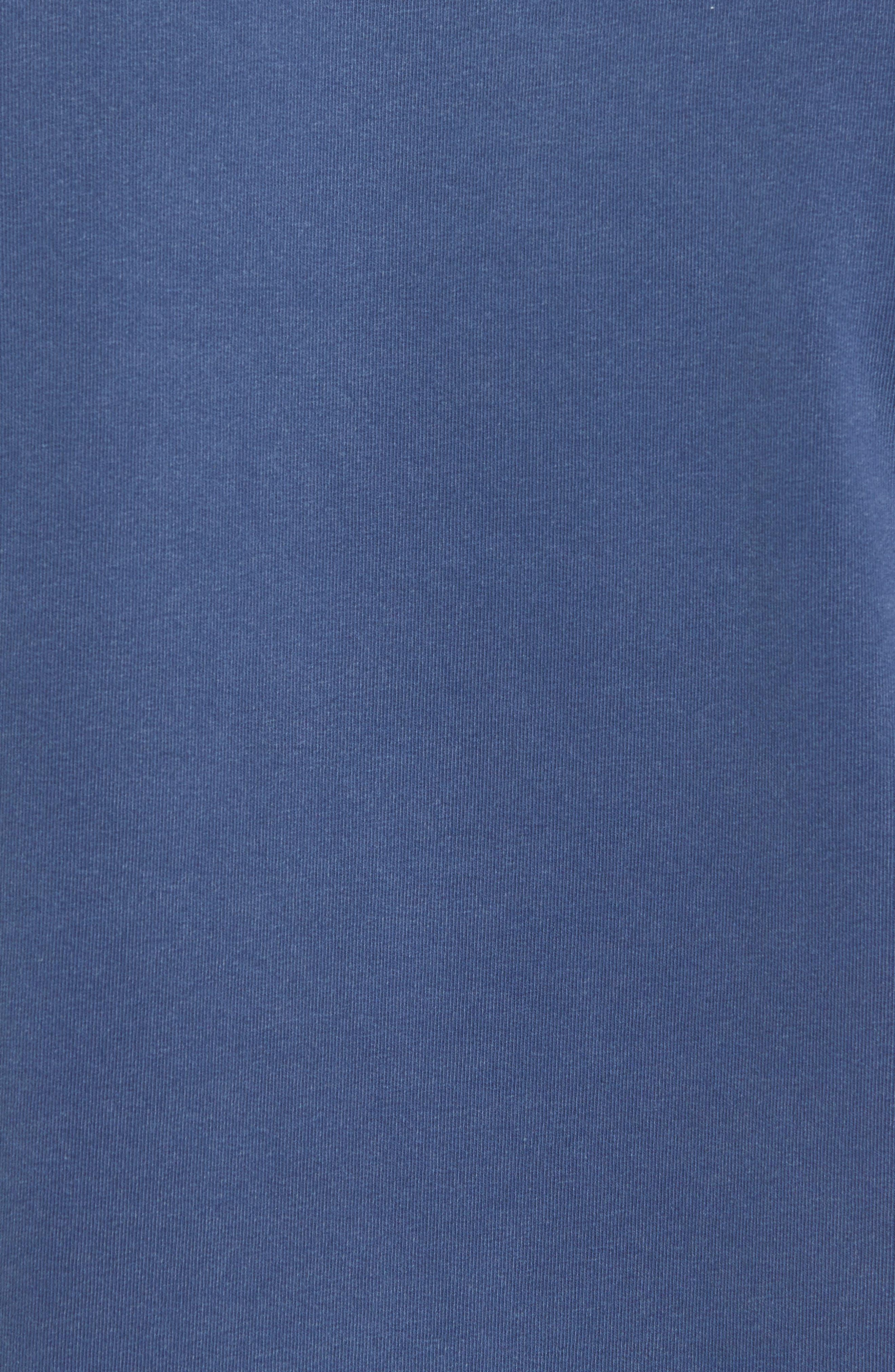 GOODLIFE, Slim Fit Crewneck Sweatshirt, Alternate thumbnail 5, color, FADED NAVY