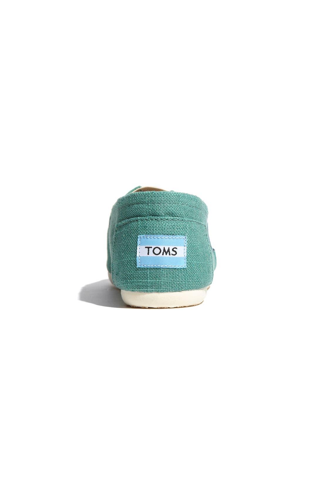 TOMS, 'Classic' Linen Slip-On, Alternate thumbnail 3, color, 330