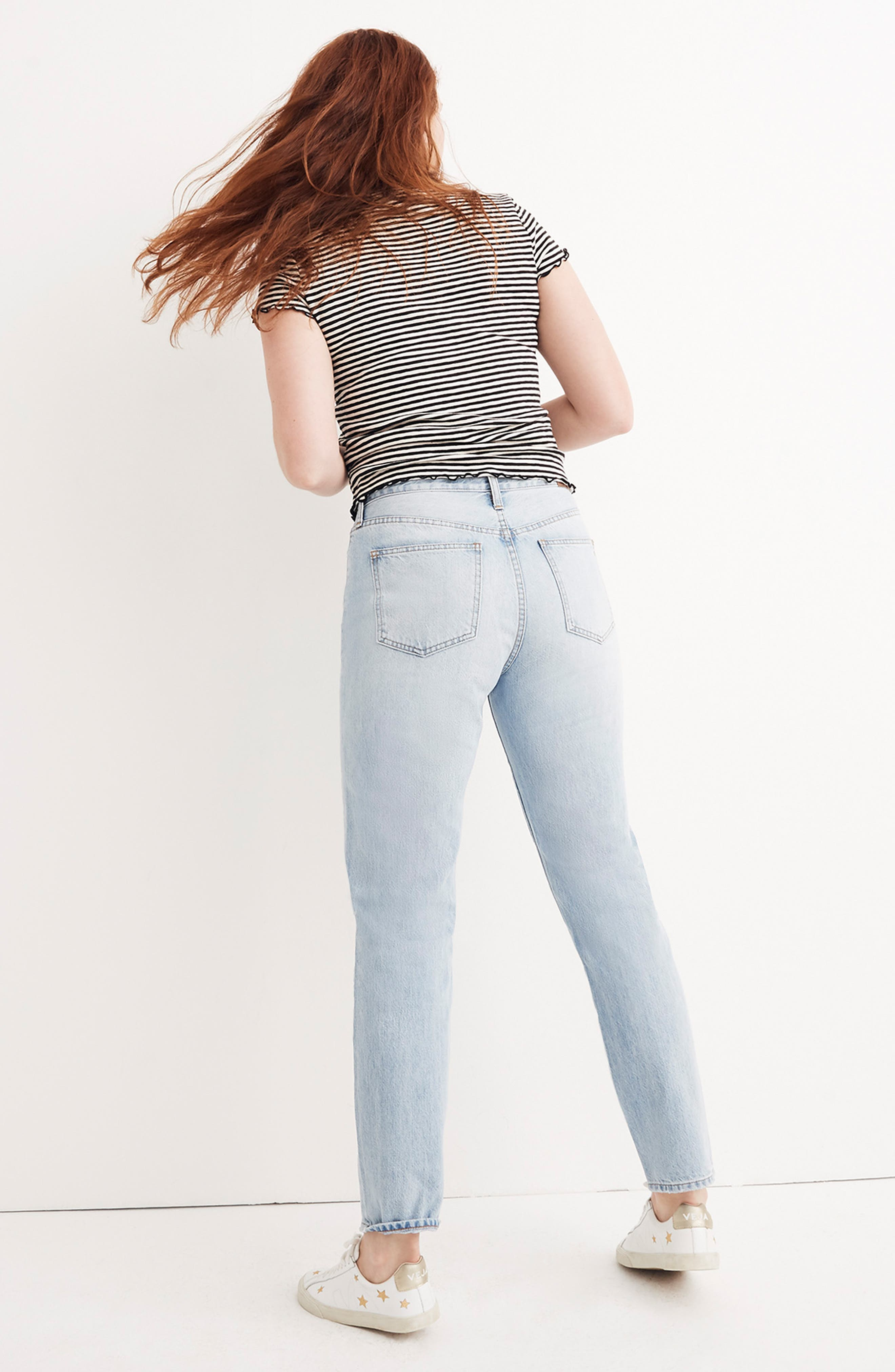 MADEWELL, 'Perfect Summer' High Rise Ankle Jeans, Alternate thumbnail 9, color, FITZGERALD WASH