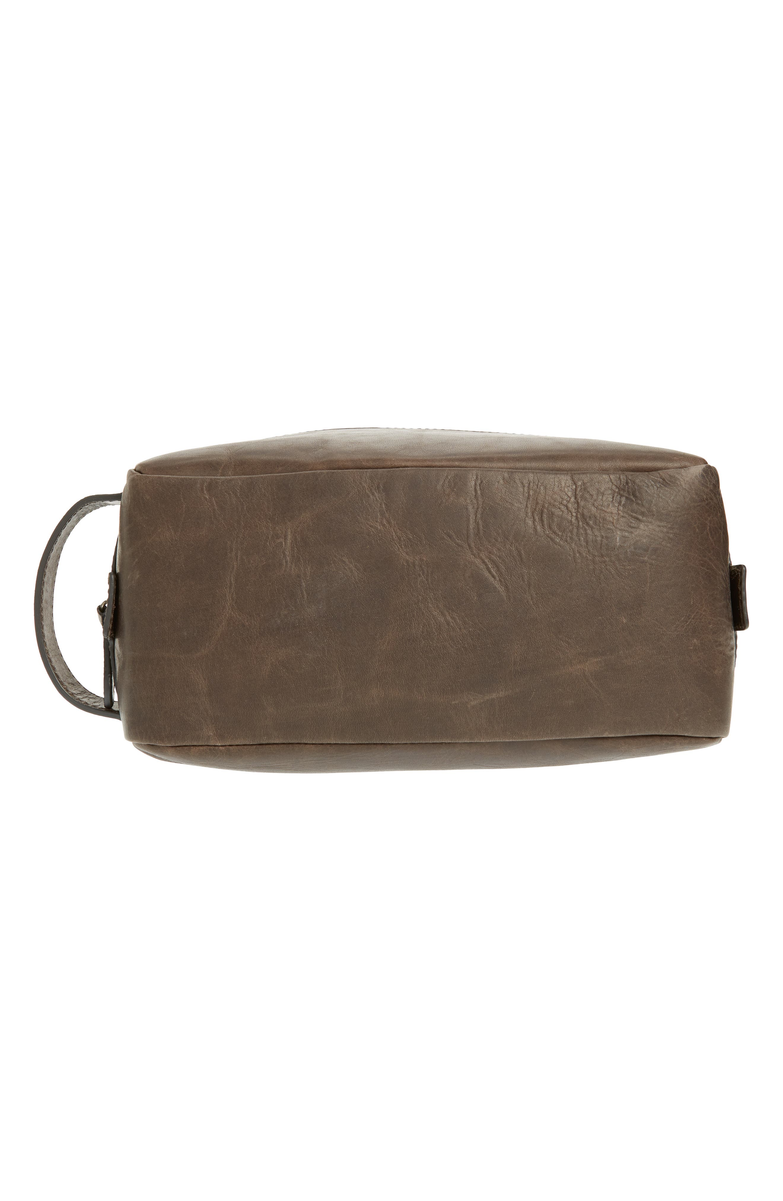 FRYE, 'Logan' Leather Travel Kit, Alternate thumbnail 5, color, SLATE