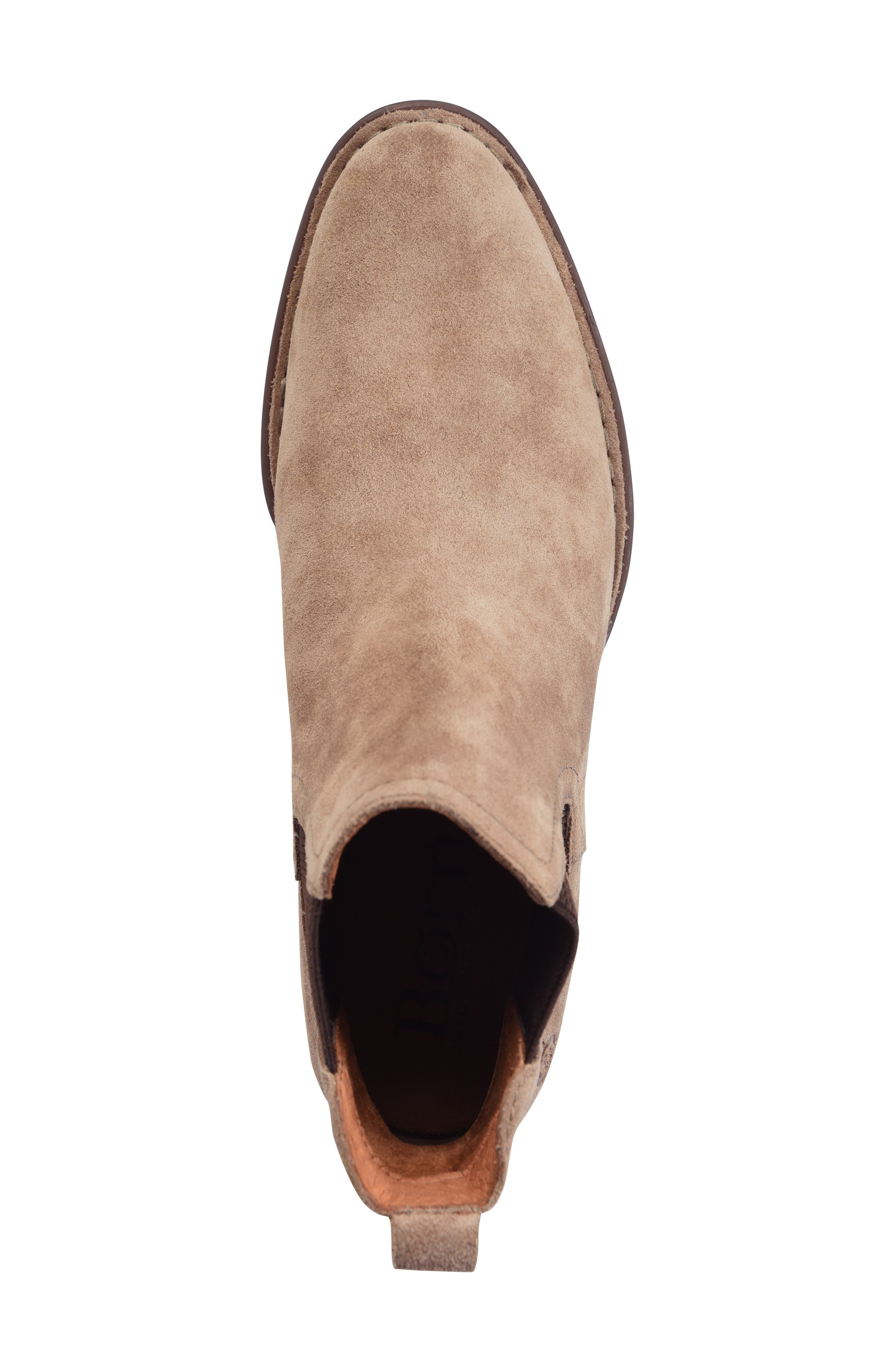 BØRN, Casco Chelsea Boot, Alternate thumbnail 5, color, DARK TAUPE SUEDE