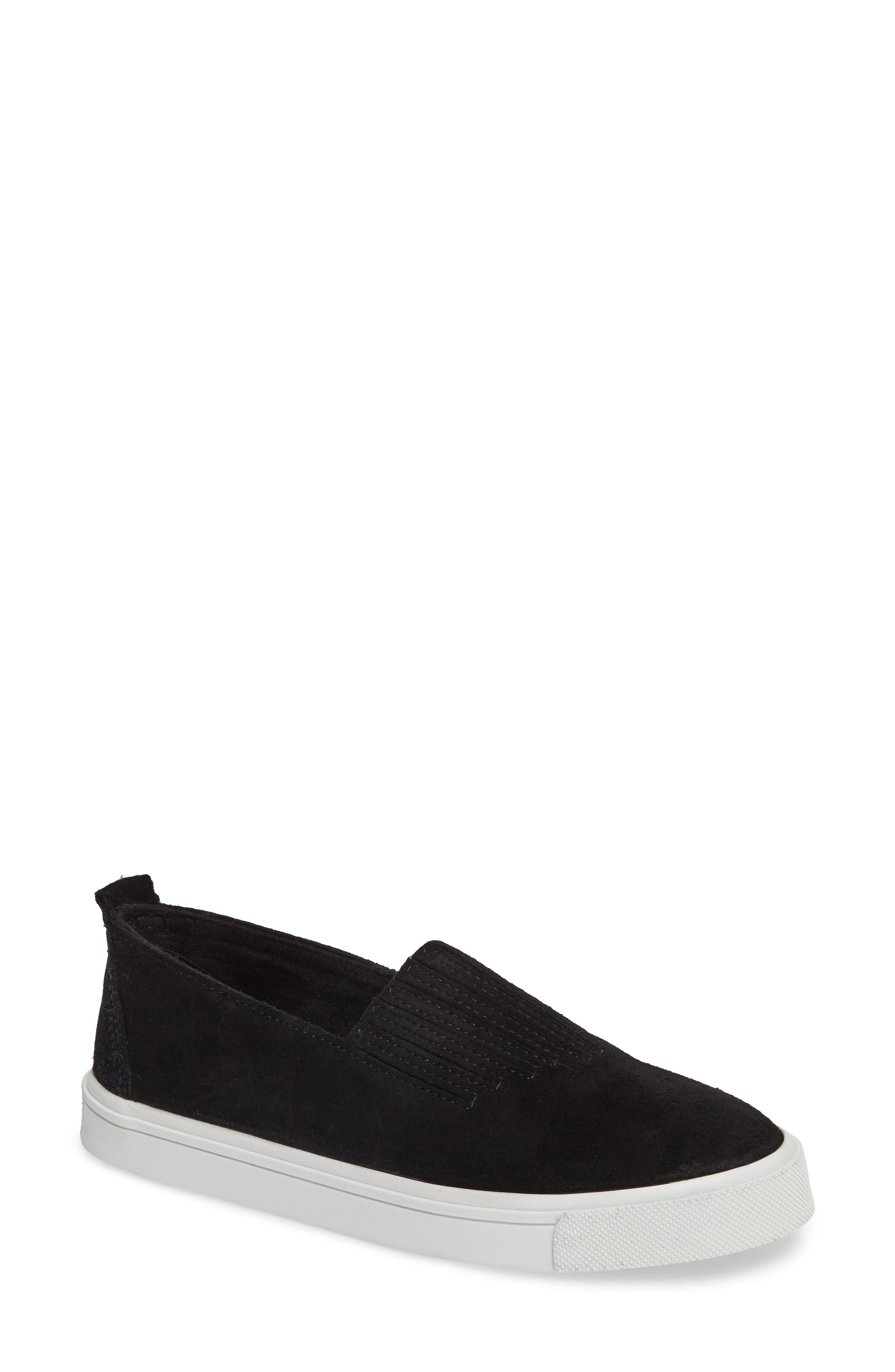 MINNETONKA, Gabi Slip-On Sneaker, Main thumbnail 1, color, BLACK