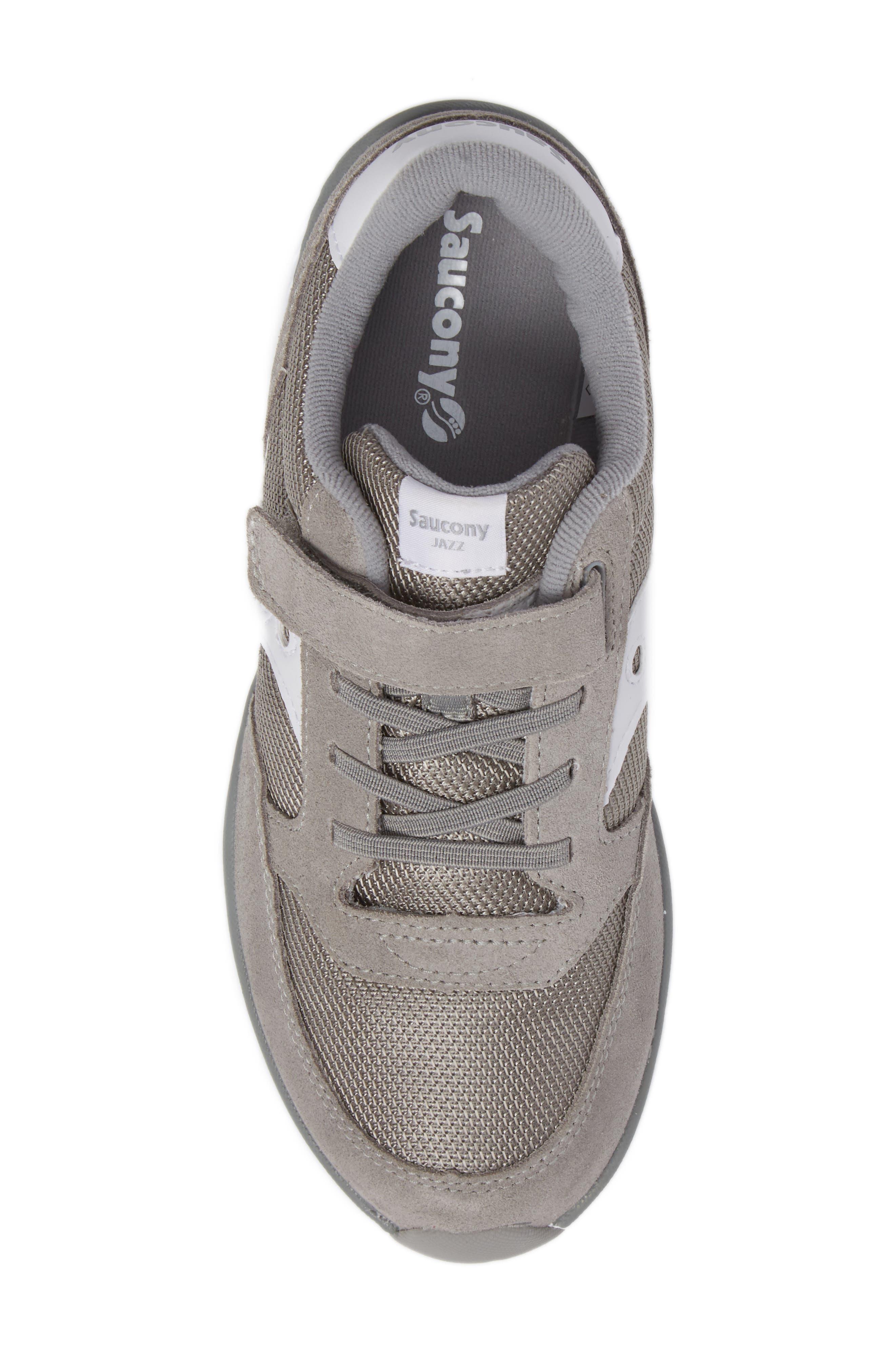 SAUCONY, Jazz Lite Sneaker, Alternate thumbnail 5, color, GREY/ WHITE