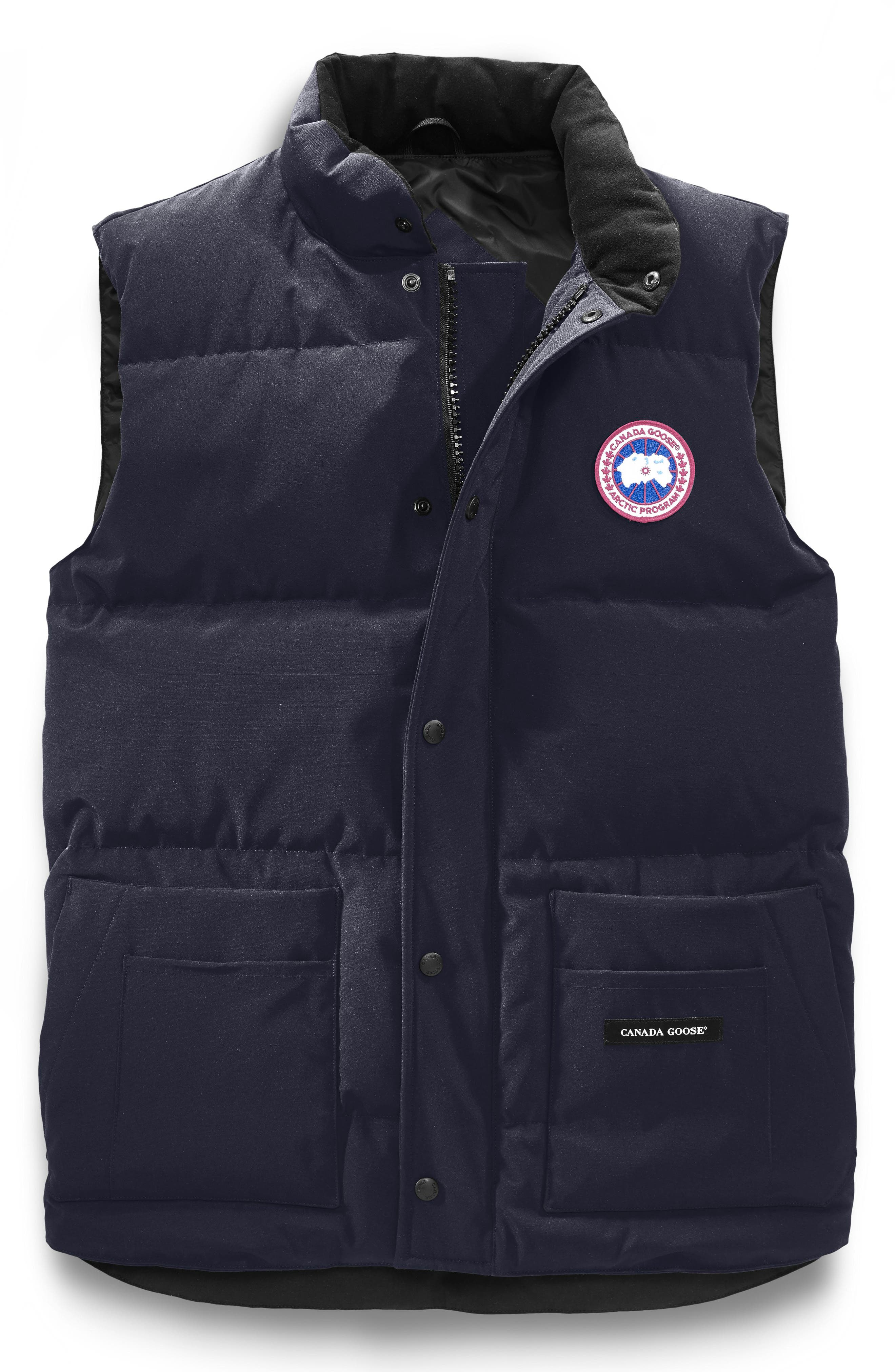 CANADA GOOSE, Freestyle Regular Fit Down Vest, Alternate thumbnail 5, color, ADMIRAL BLUE