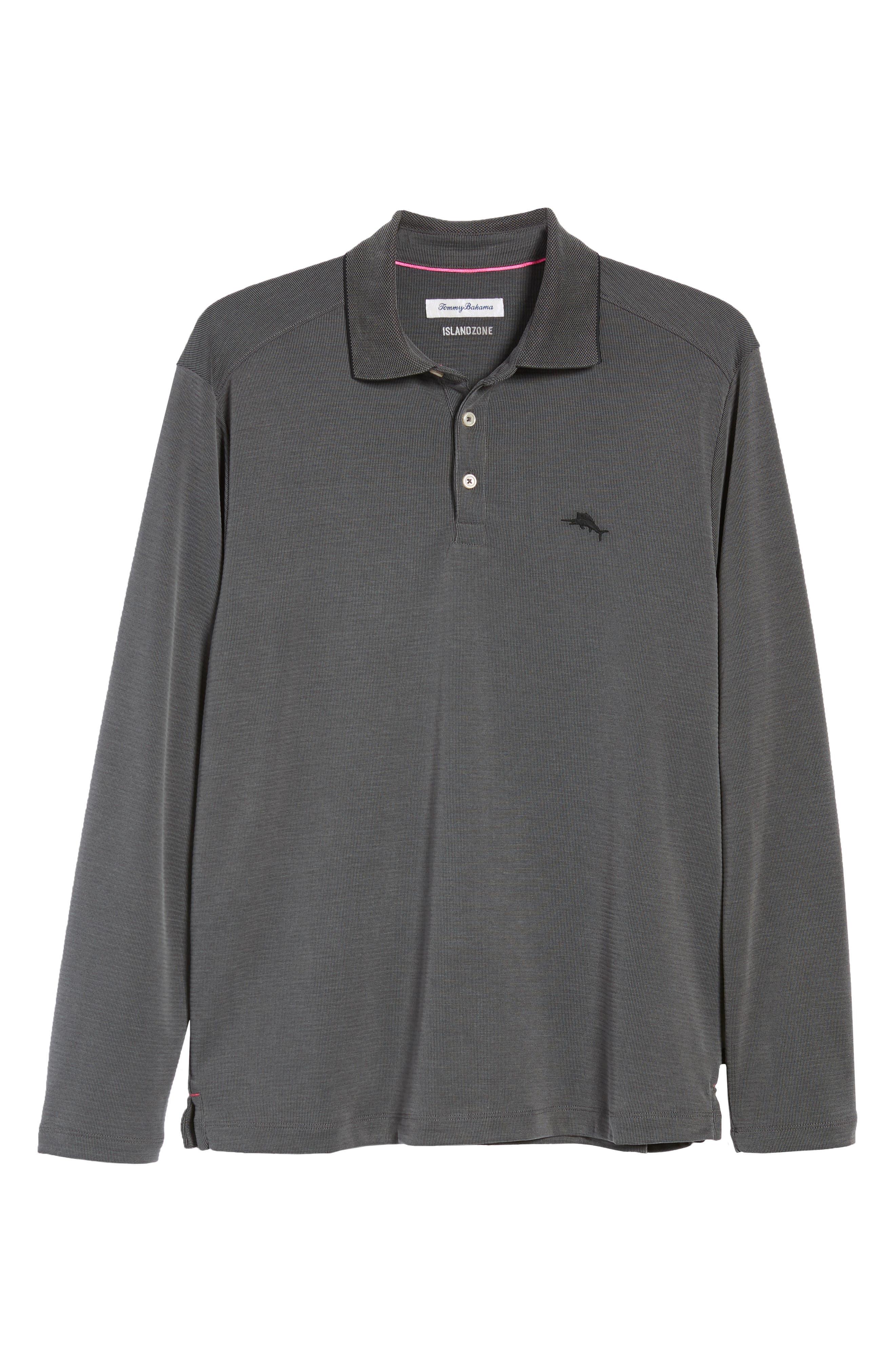 TOMMY BAHAMA, Coastal Crest Regular Fit Polo, Alternate thumbnail 6, color, BLACK