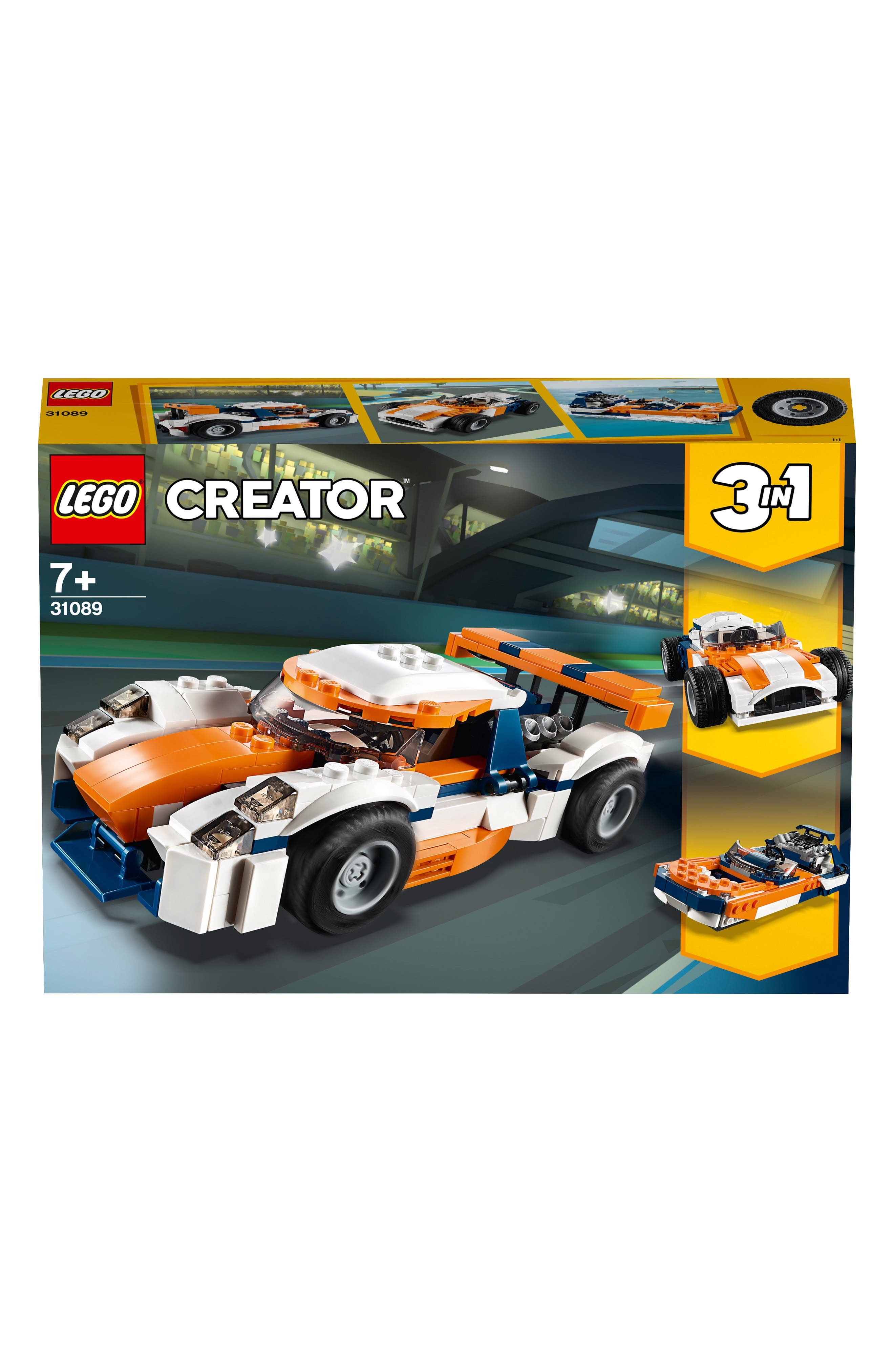 LEGO<SUP>®</SUP>, Creator 3-in-1 Sunset Track Racer - 31089, Alternate thumbnail 4, color, 960