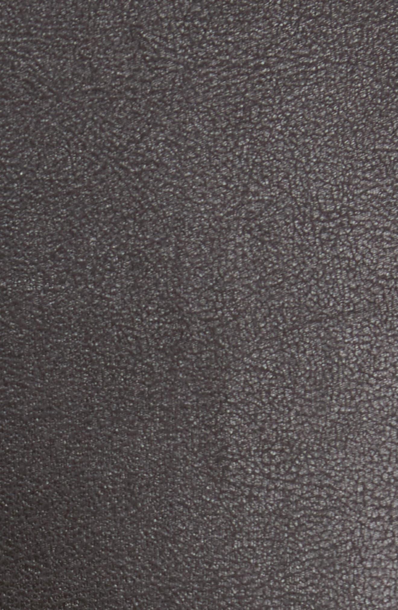 TROUVÉ, FauxLeather Leggings, Alternate thumbnail 5, color, 001